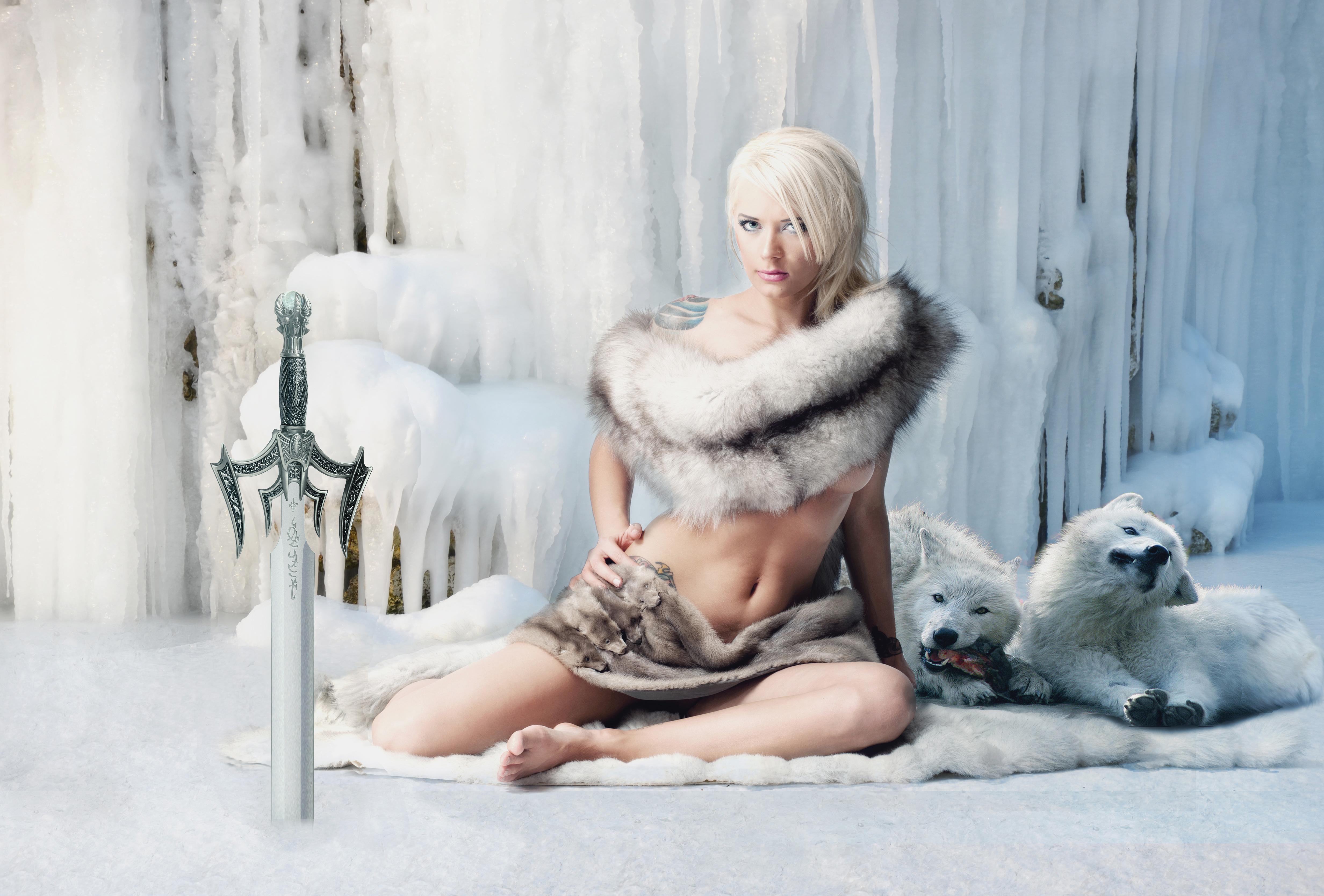 девушка блондинка снег girl blonde snow загрузить