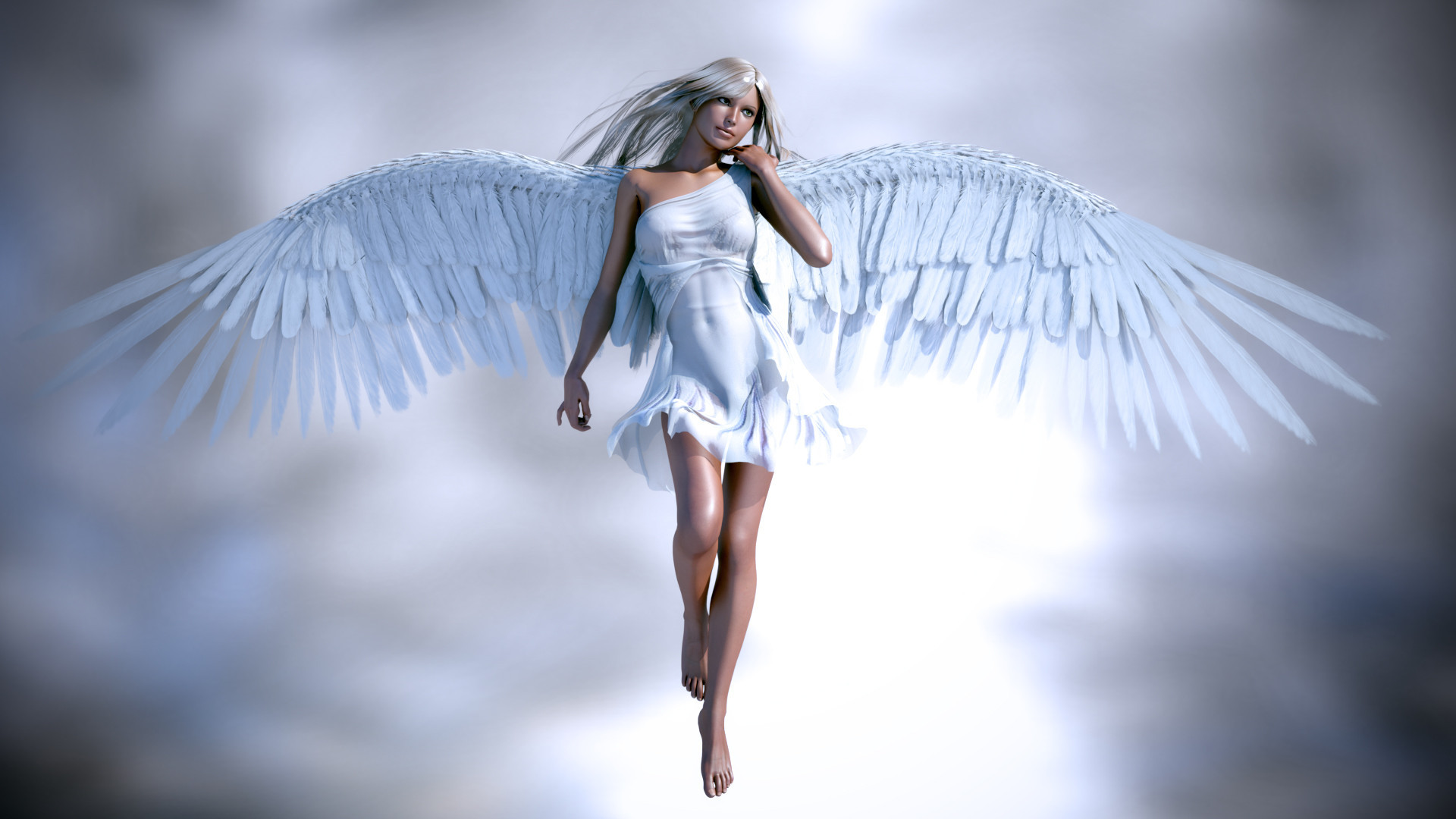 Humans born with wings