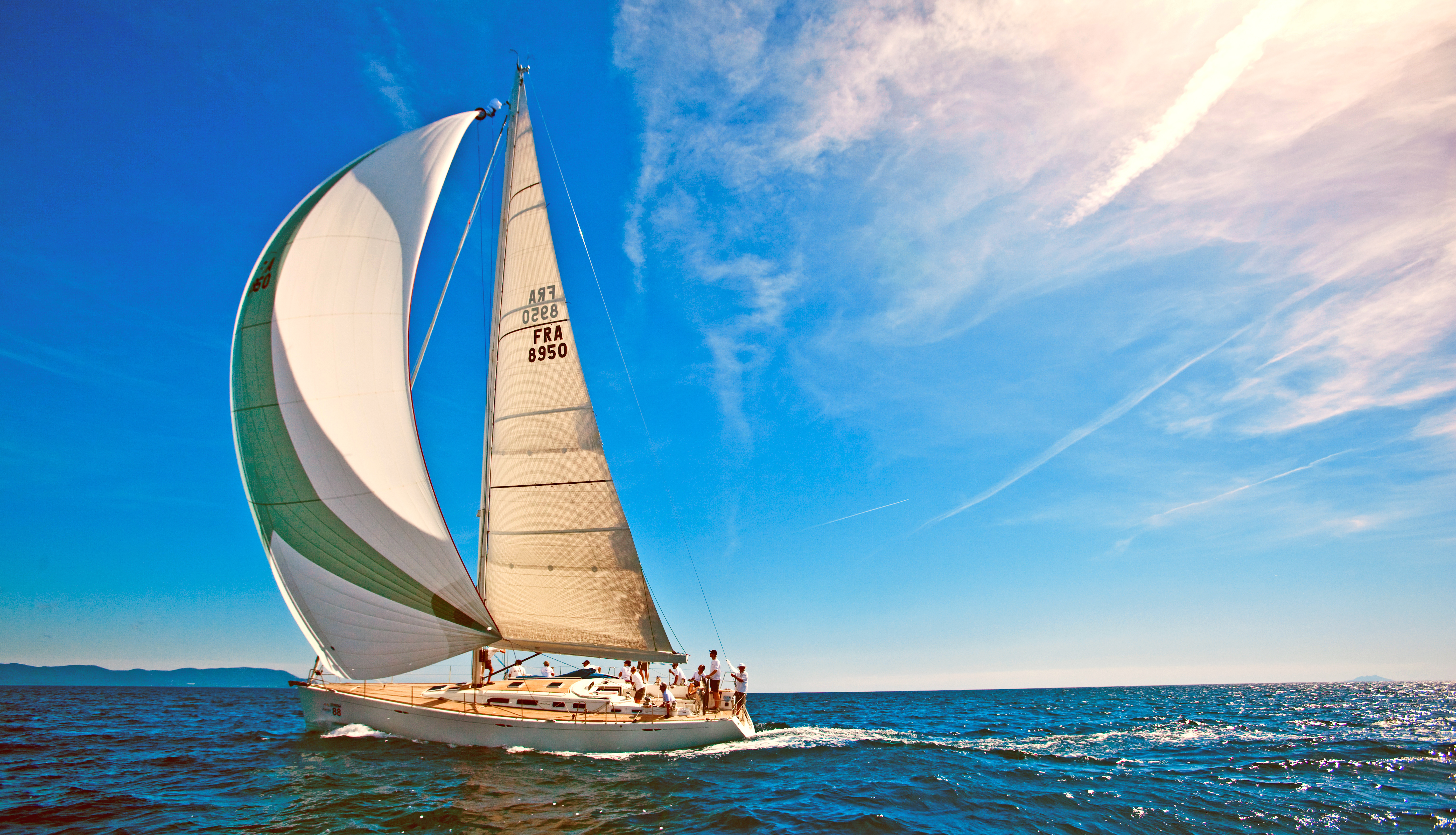 яхта парус море остров  № 3944436 загрузить