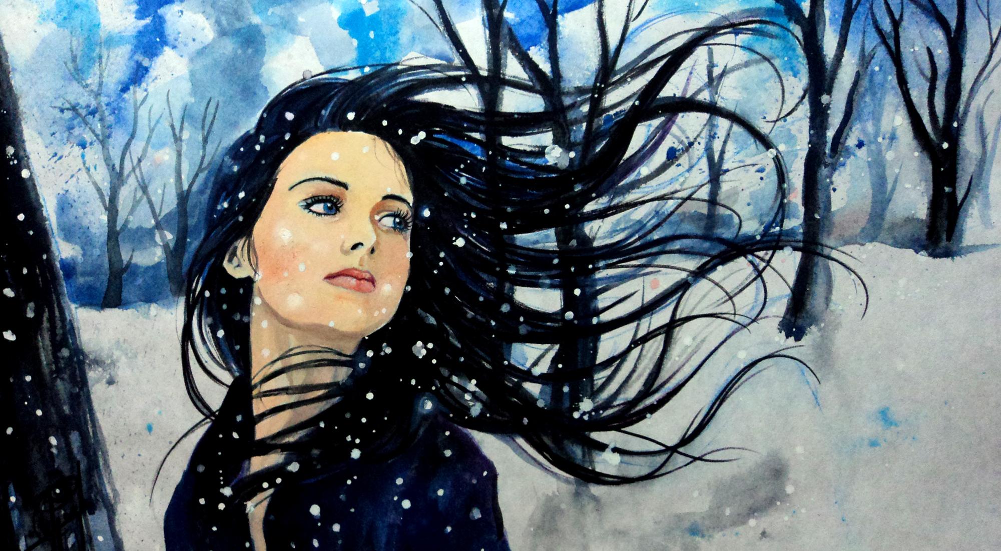 Как рисовать ветер с лицом