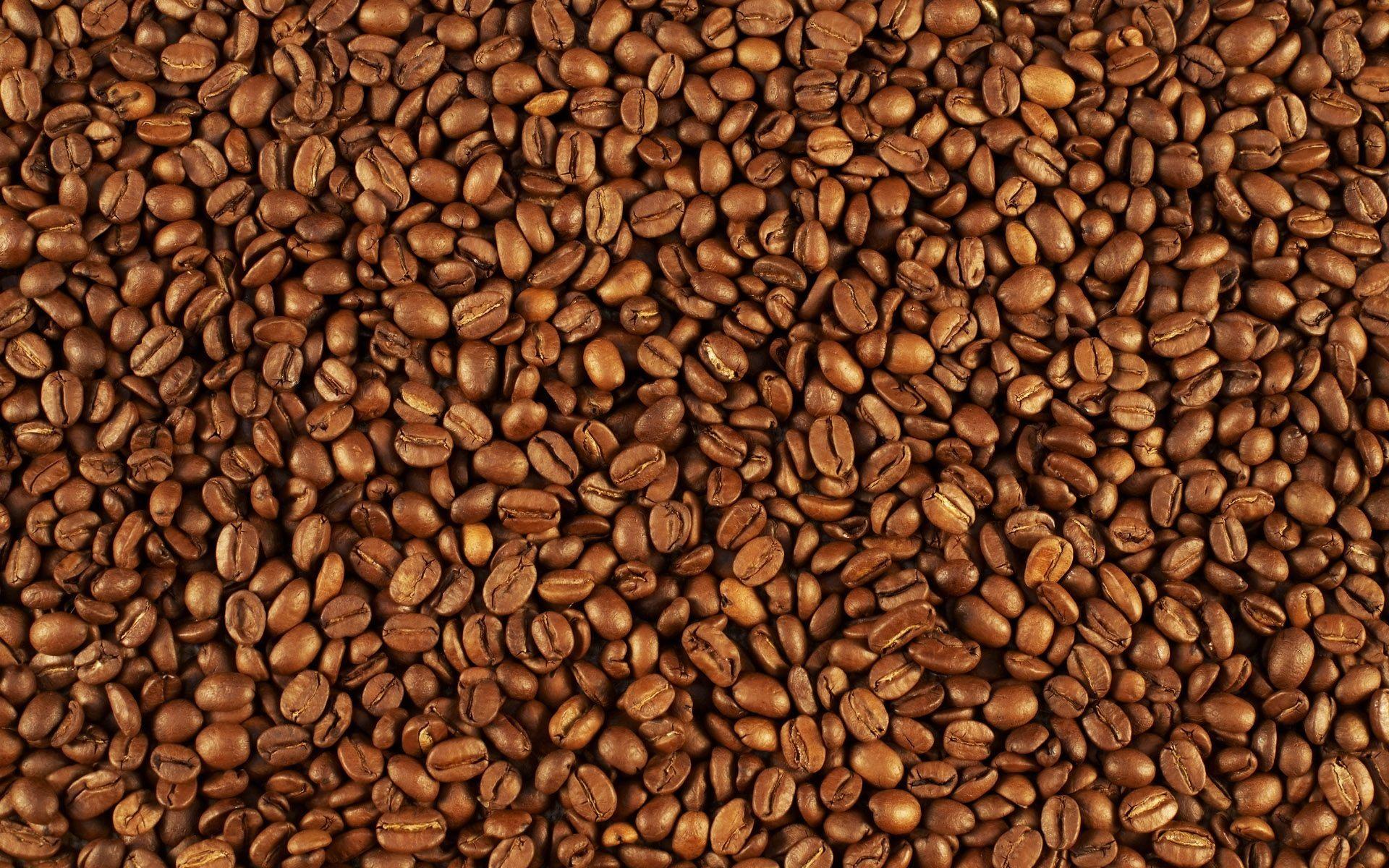 Кофейные зерна с листьями загрузить
