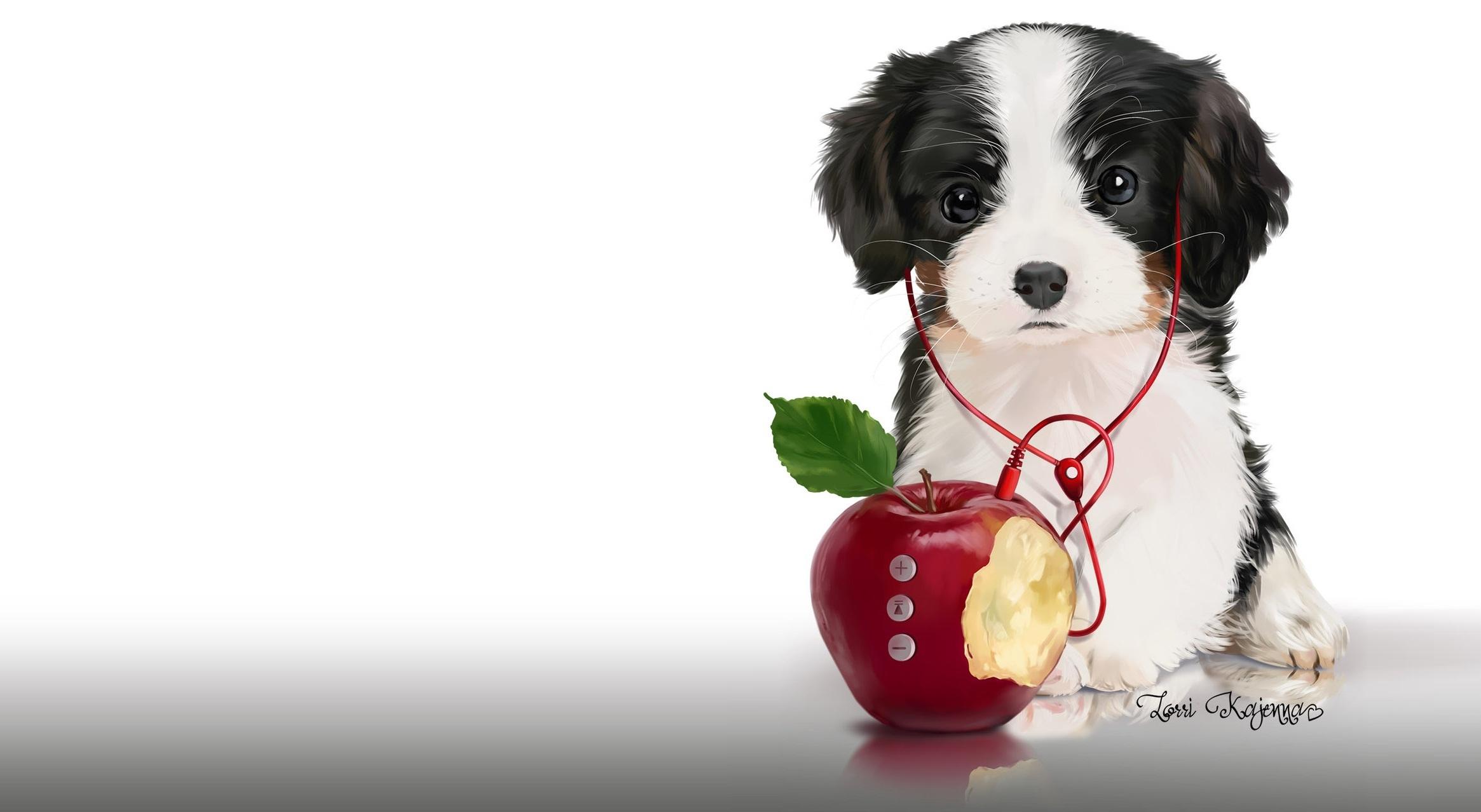 картинка щенок в наушниках помощью этой