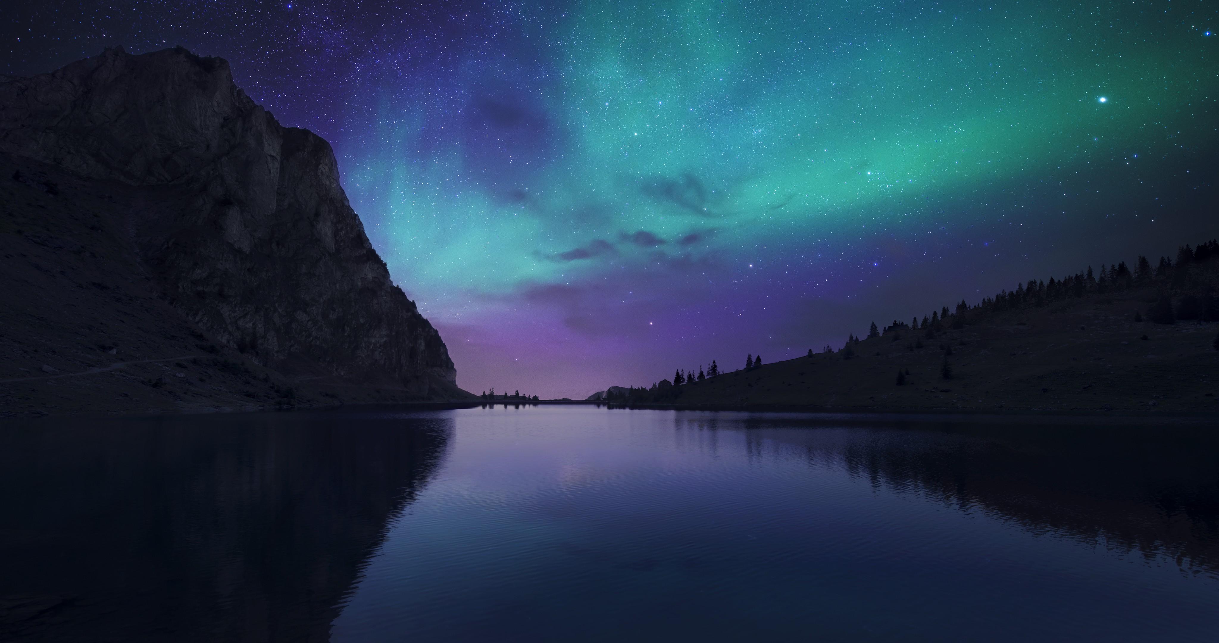 гора ночь свет озеро бесплатно