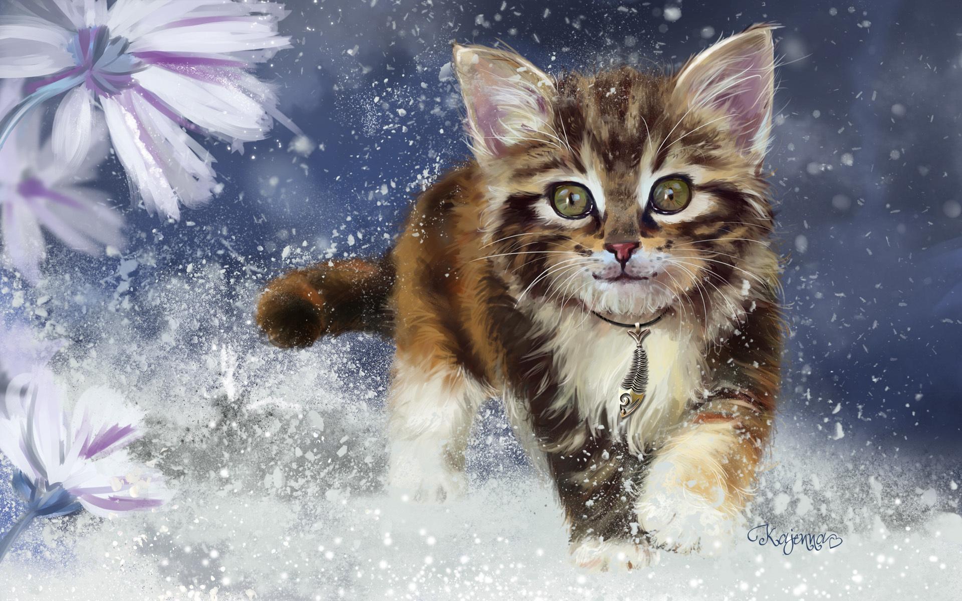 картинки зимние пейзажи котята продолжаются женщина узнаёт
