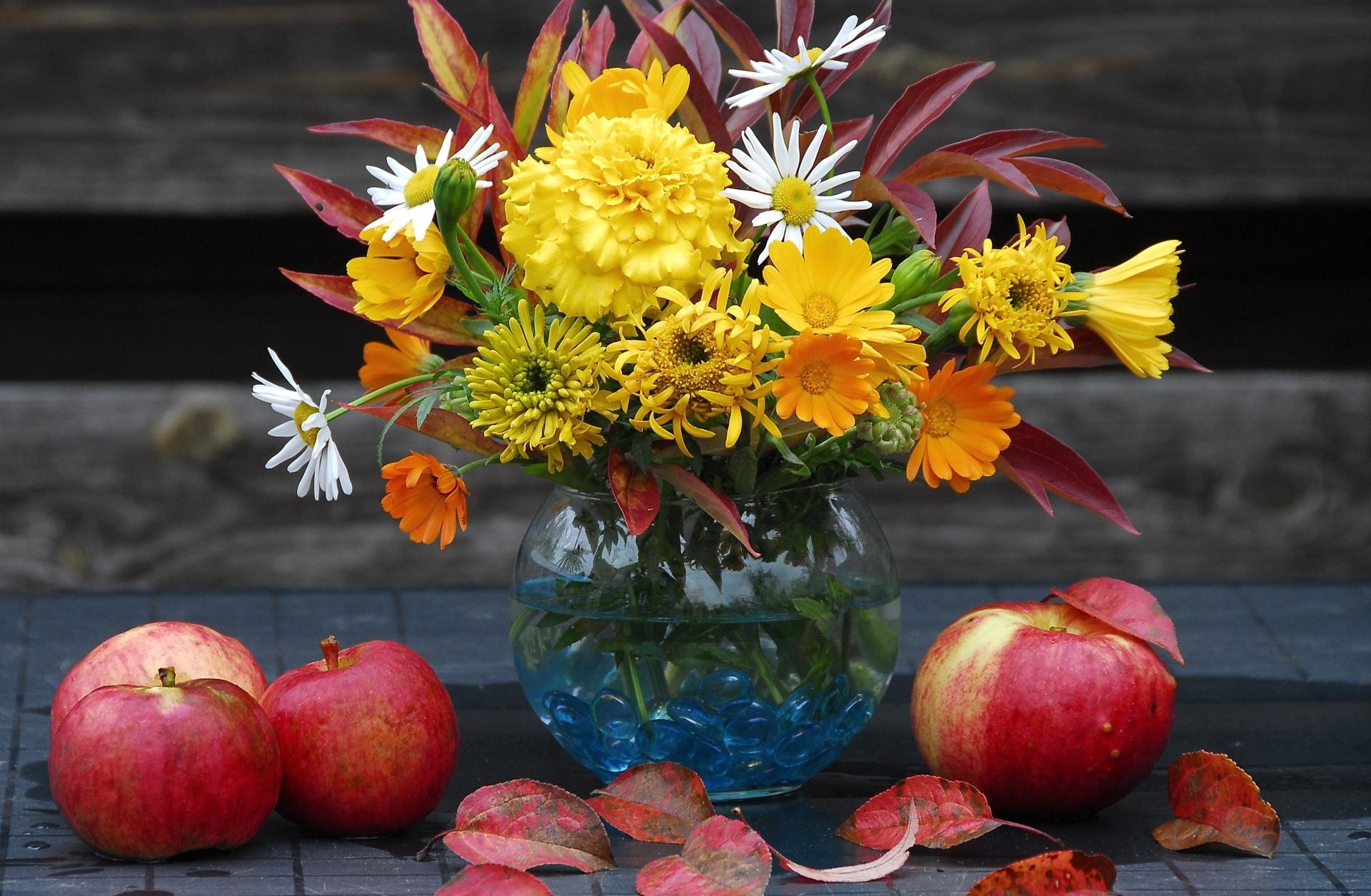 Букет цветов осенний, букетов заказ