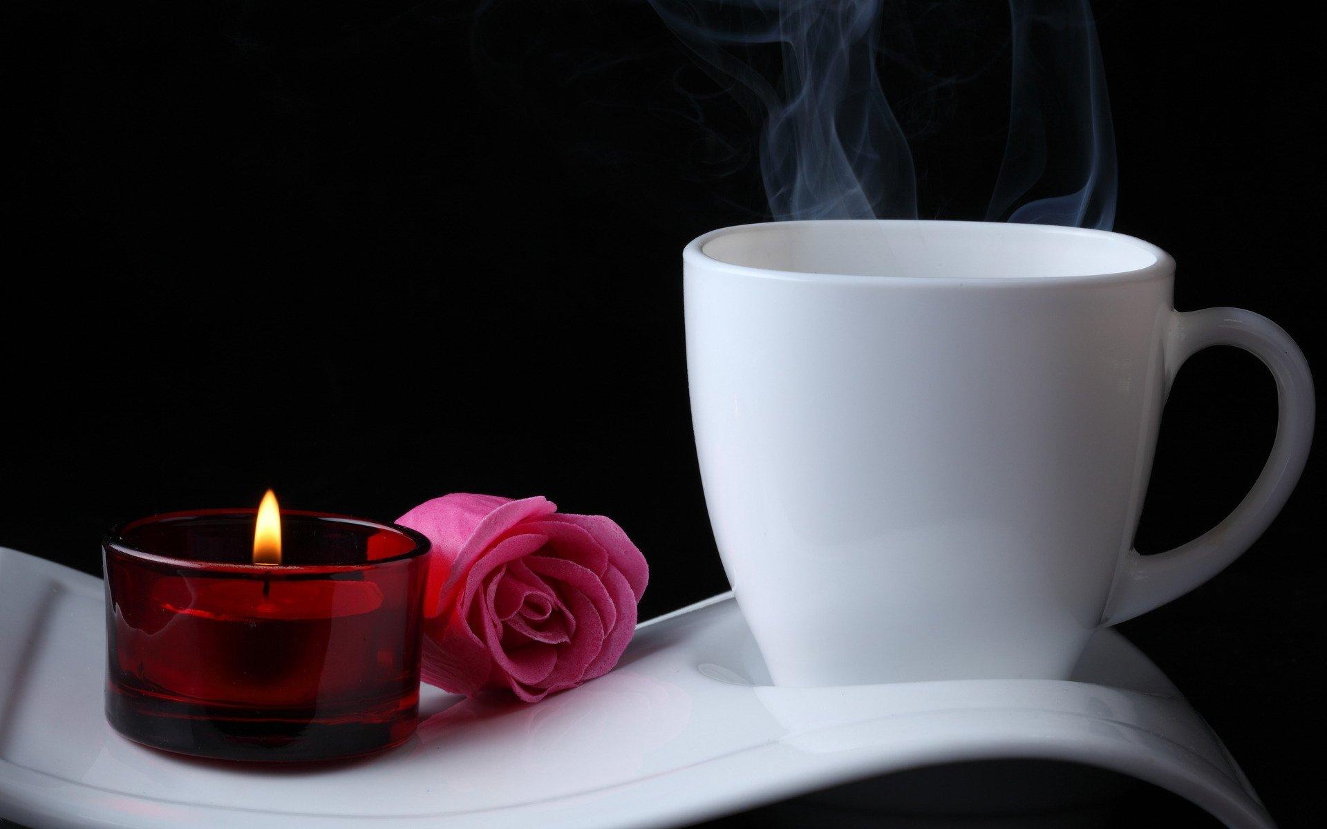 розы, желтые, сервировка, фужеры, свечи без смс