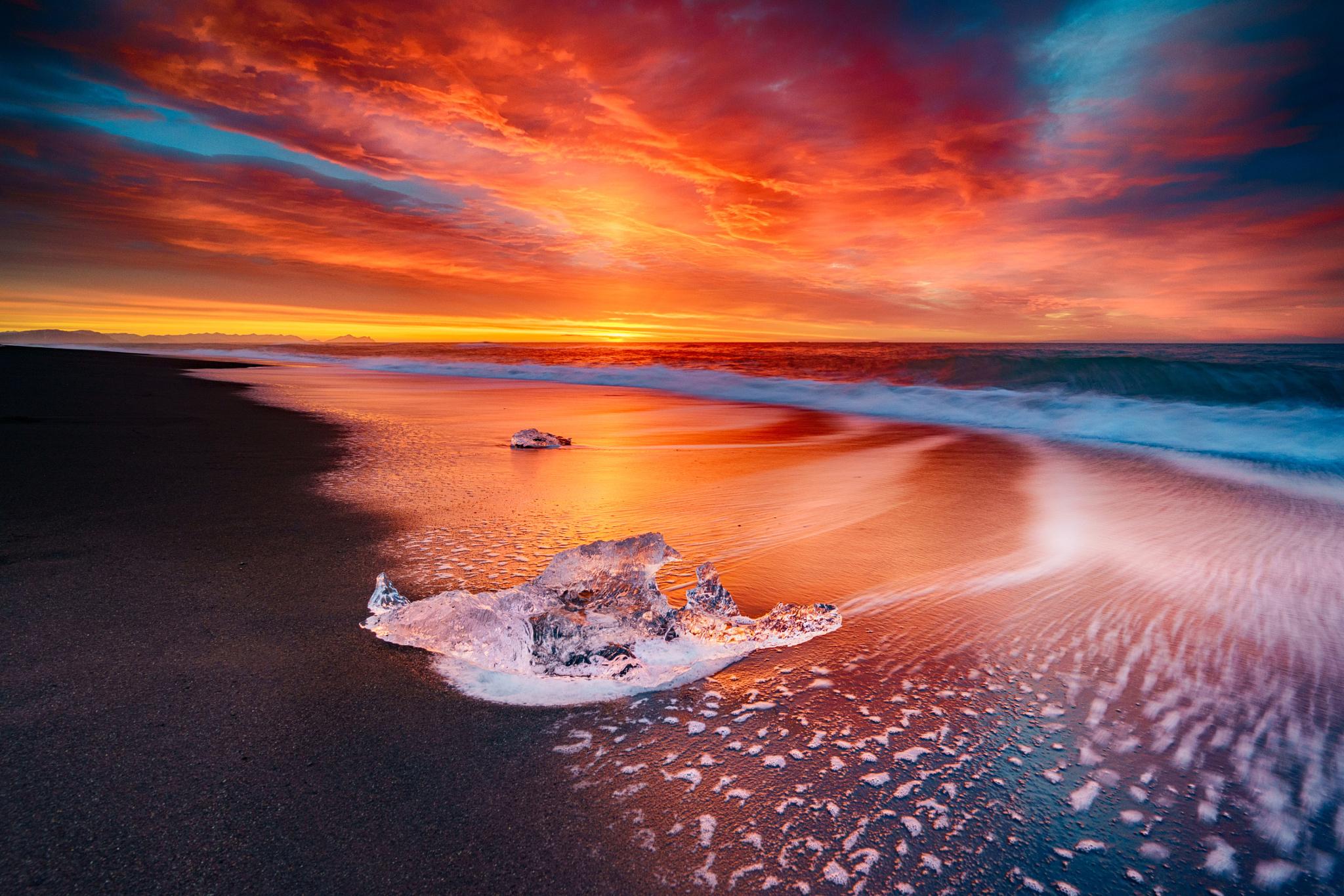 красочный закат над морем  № 1258676 загрузить