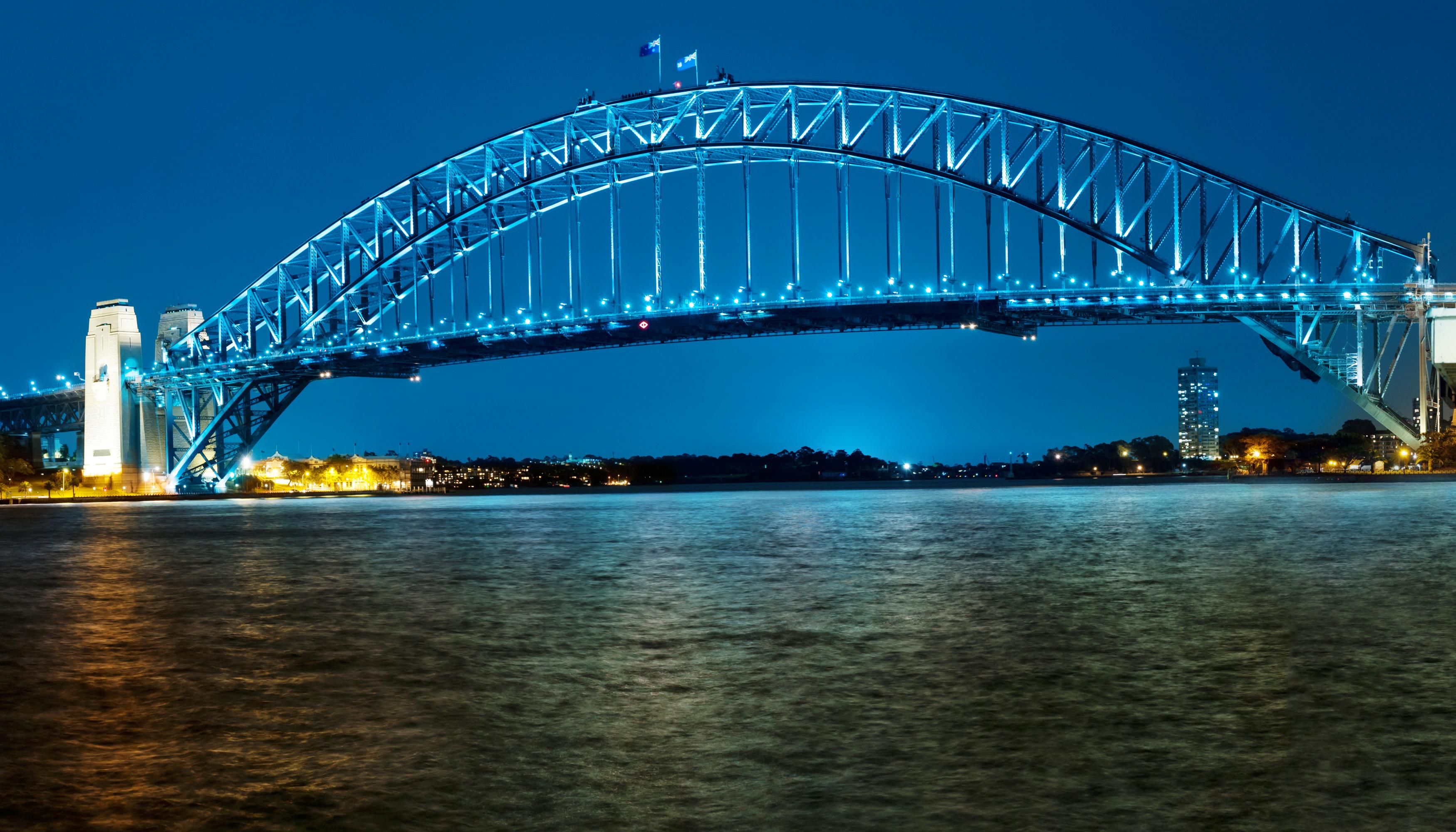 Обои набережная, ночь, австралия, фонари. Города foto 17