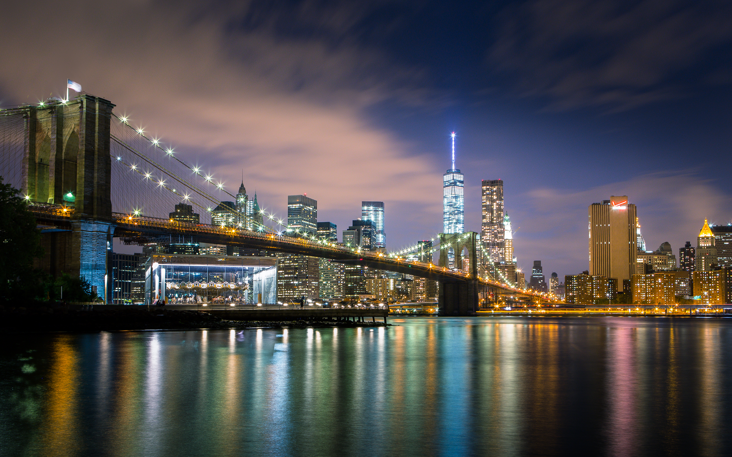 Обои river, сша, new york, manhattan, Nyc, new york city. Города foto 16