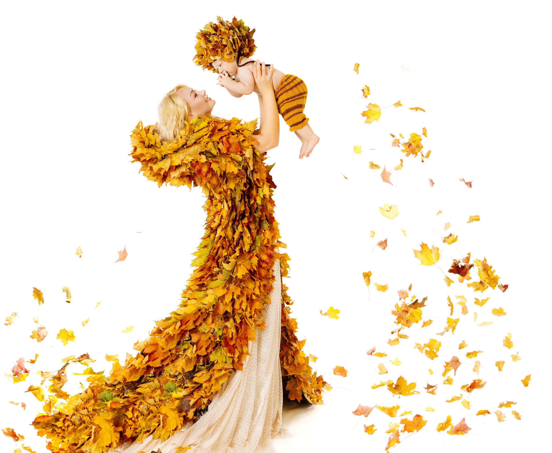 Девушка платье из листьев загрузить