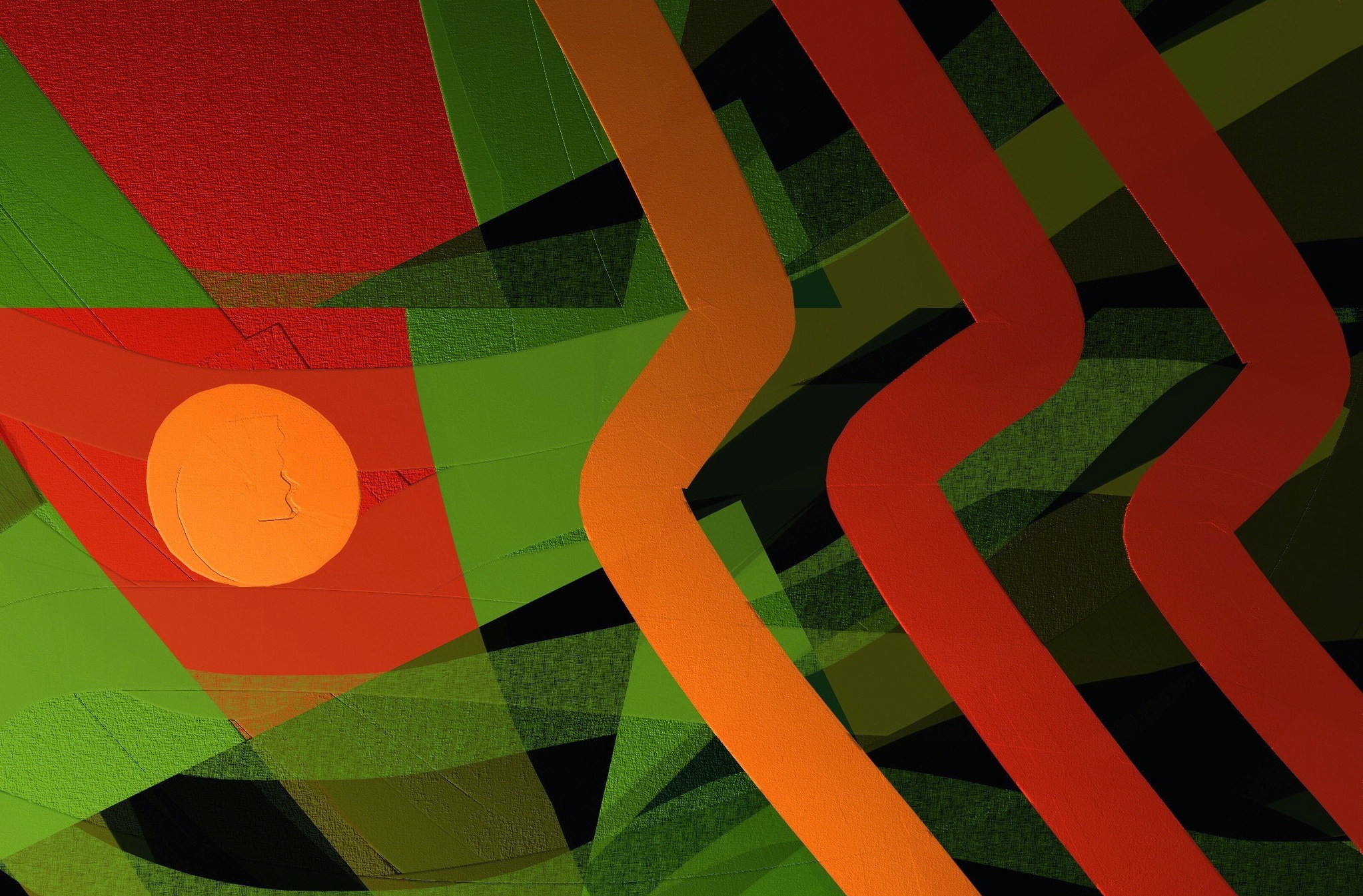 Обои Цвет, форма. Абстракции foto 13