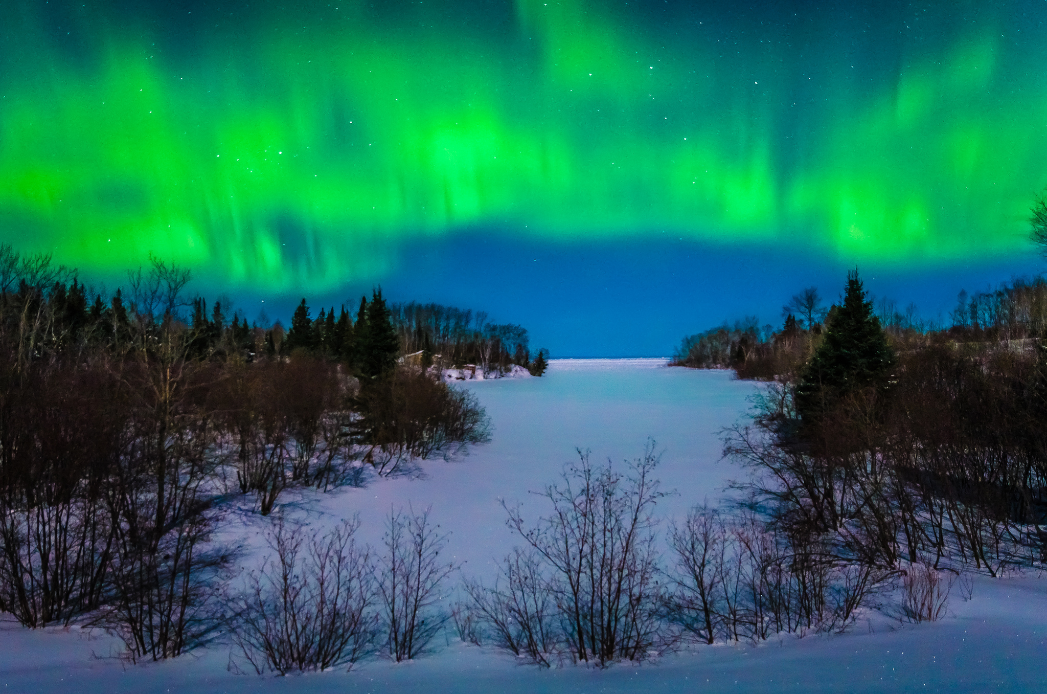 сияние озеро снег  № 2479163 без смс