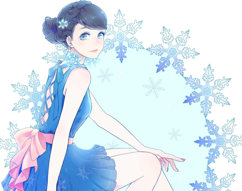 Картинки девочки снежинки