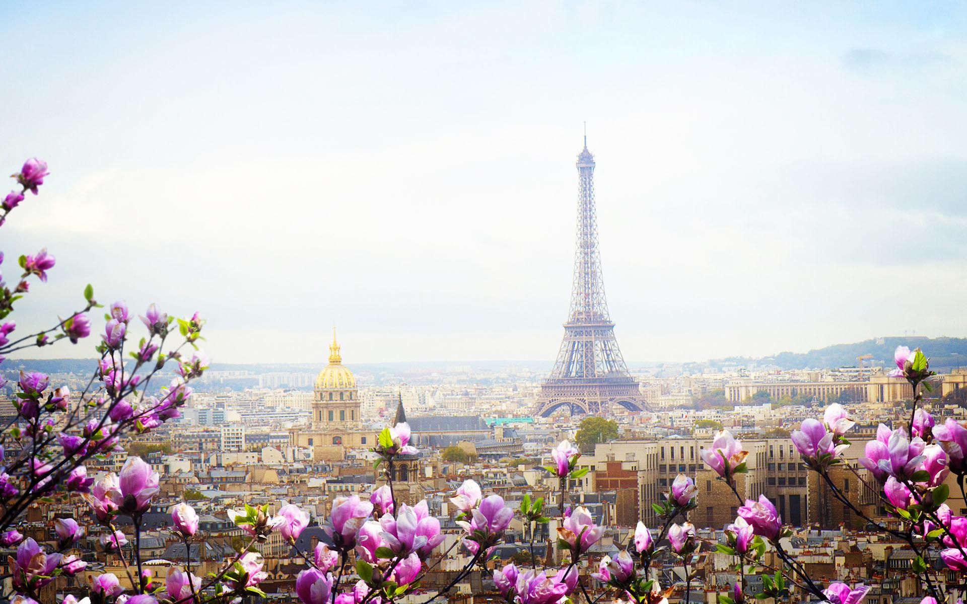Весна в париже обои на стол
