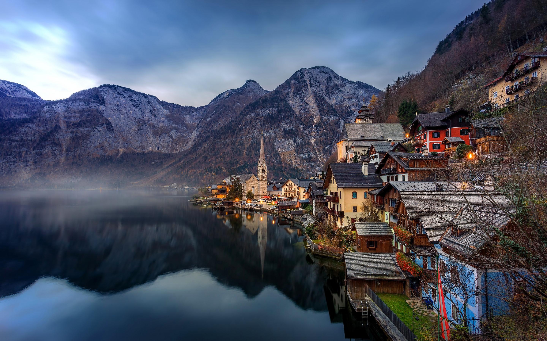 австрия горы обои на рабочий стол № 546418 загрузить