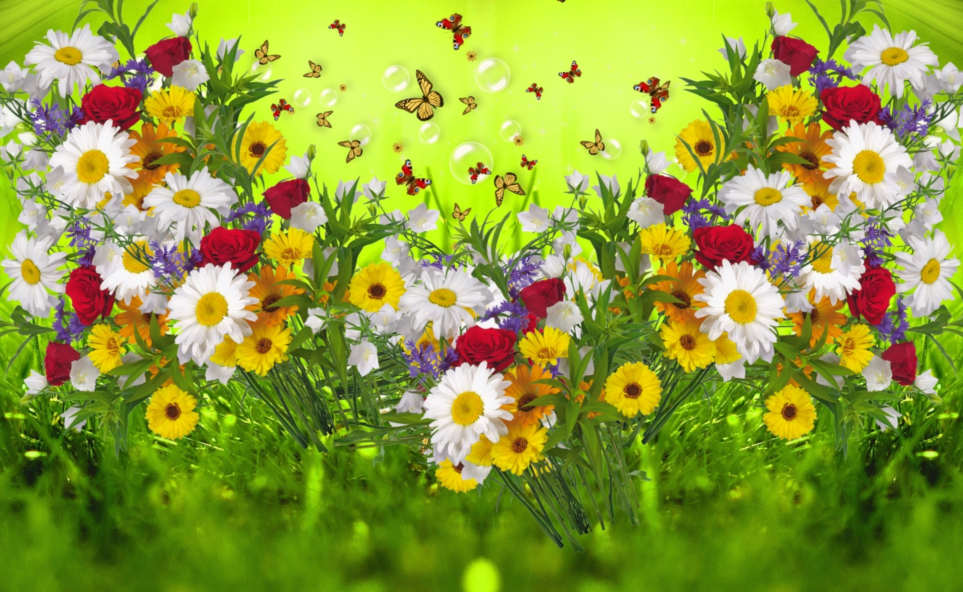 Картинки с полевыми цветами поздравительные, годовщиной свадьбы ситцевая