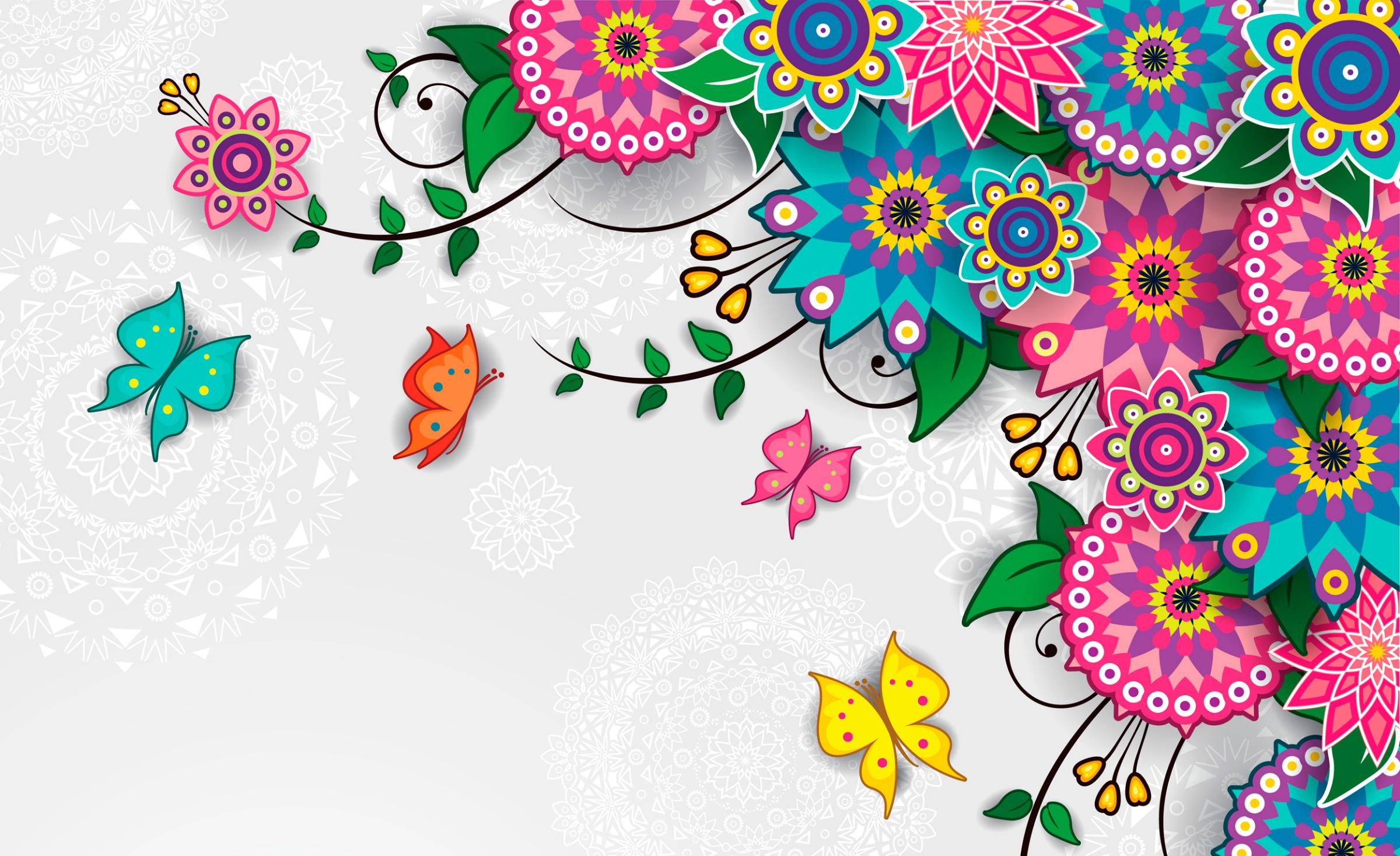 Цветочные орнаменты открытки, картинки