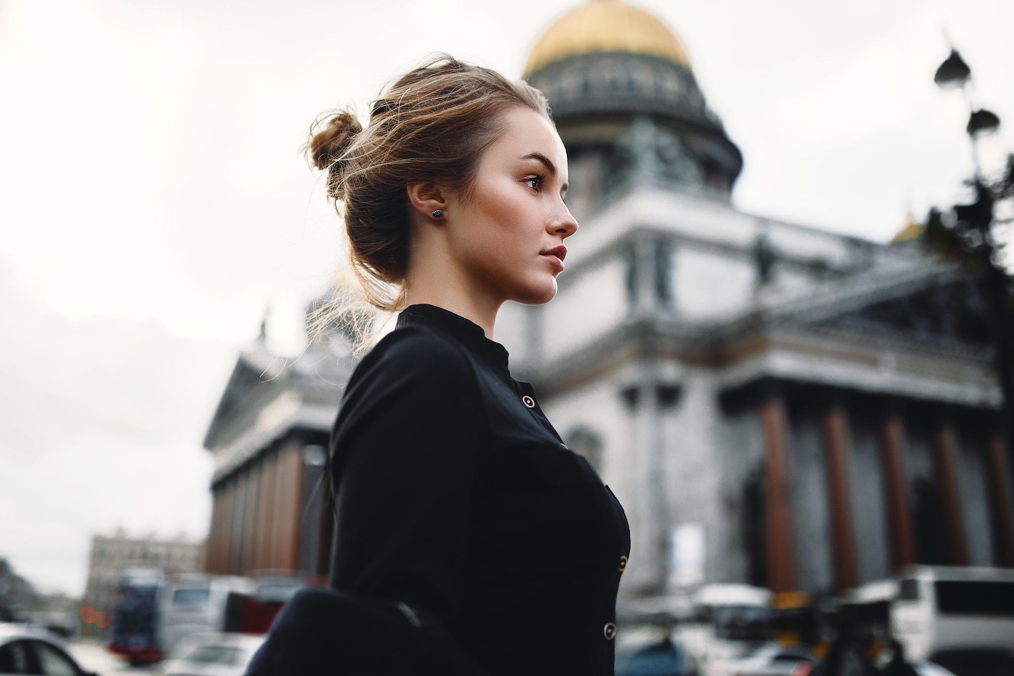 Фотосъемка портрета на фоне гор