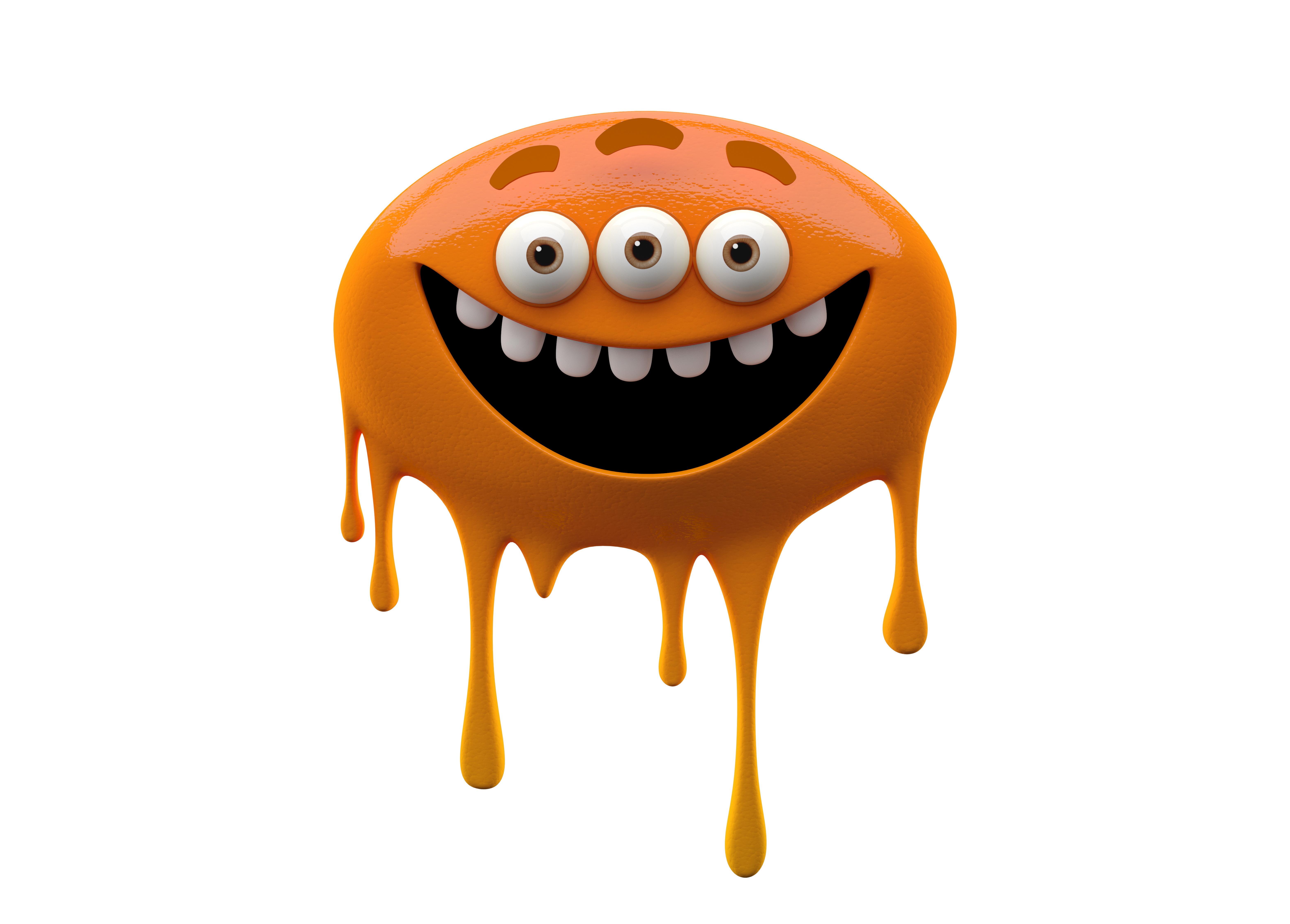 оранжевый монстр графика бесплатно