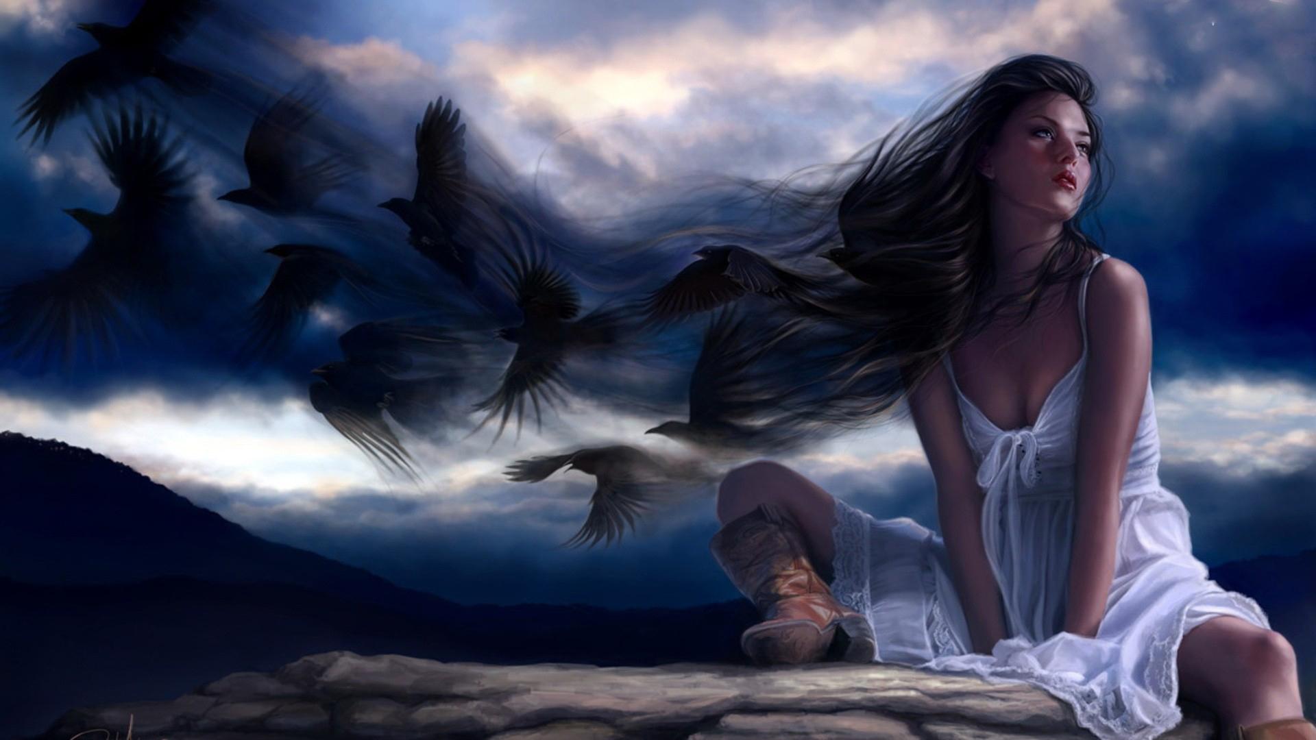 мистические картинки птица и человек железа