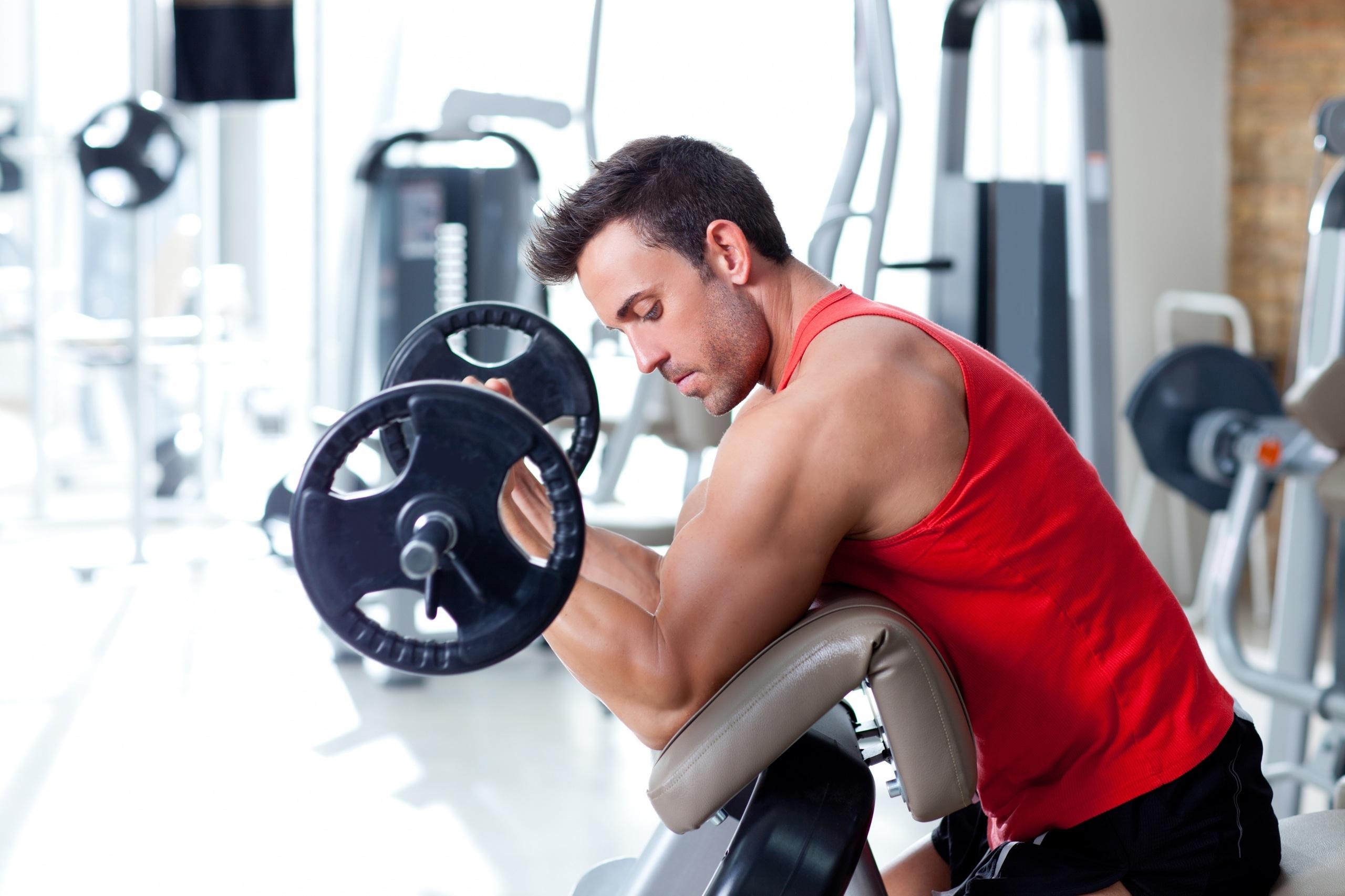 Тренировка в картинках в спортзал, надписью