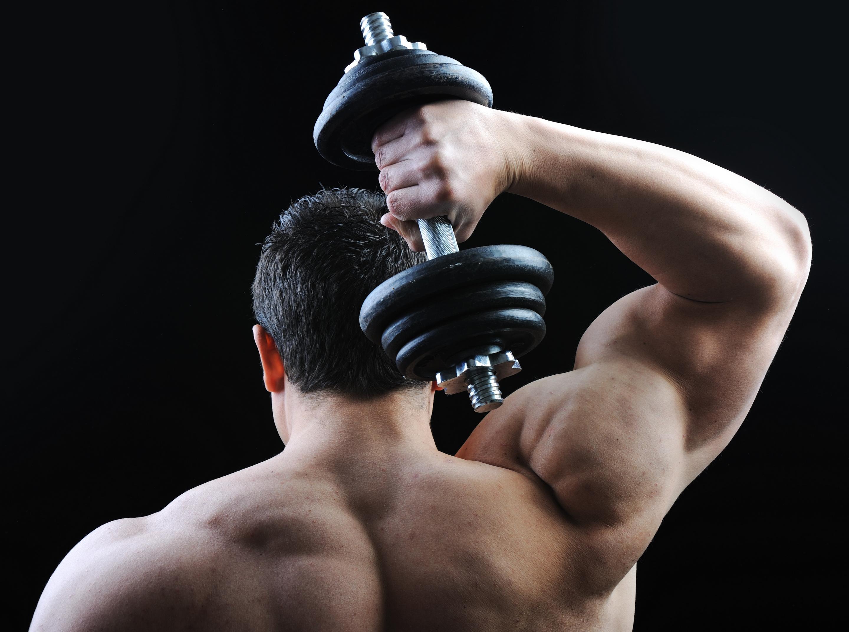 гантели упражнение на спину картинки