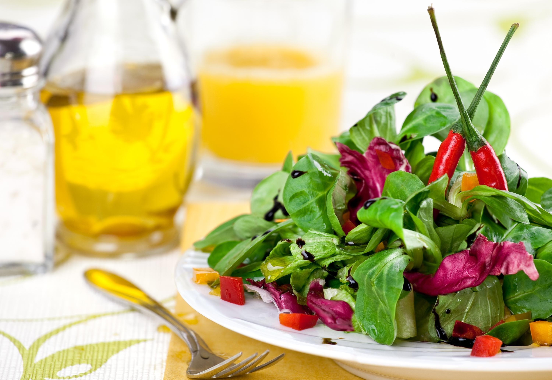 Диета на салатах с растительным маслом