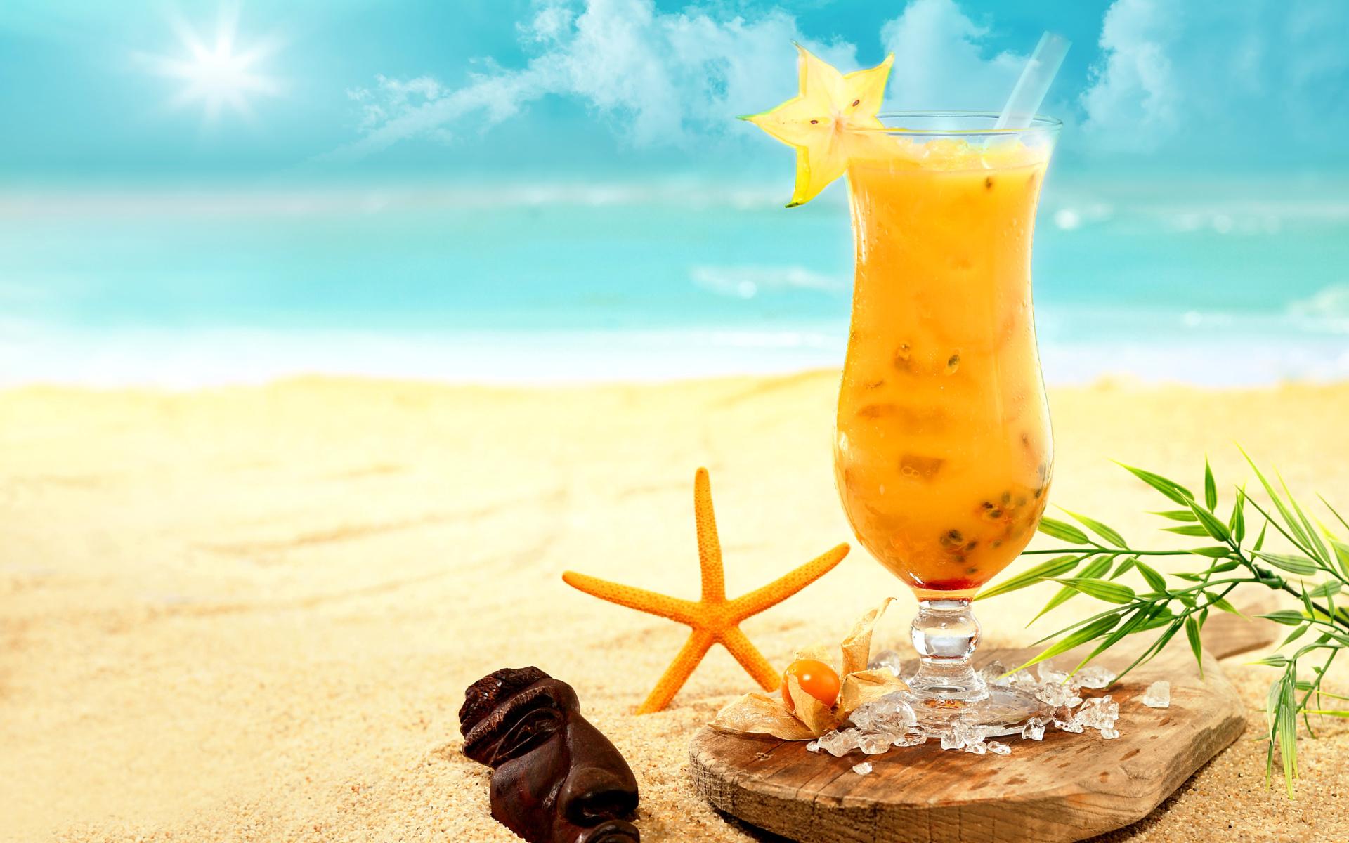 коктейль море закат ананас скачать