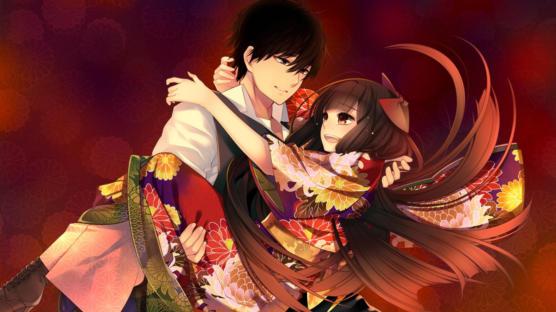 Картинки с романтическим аниме