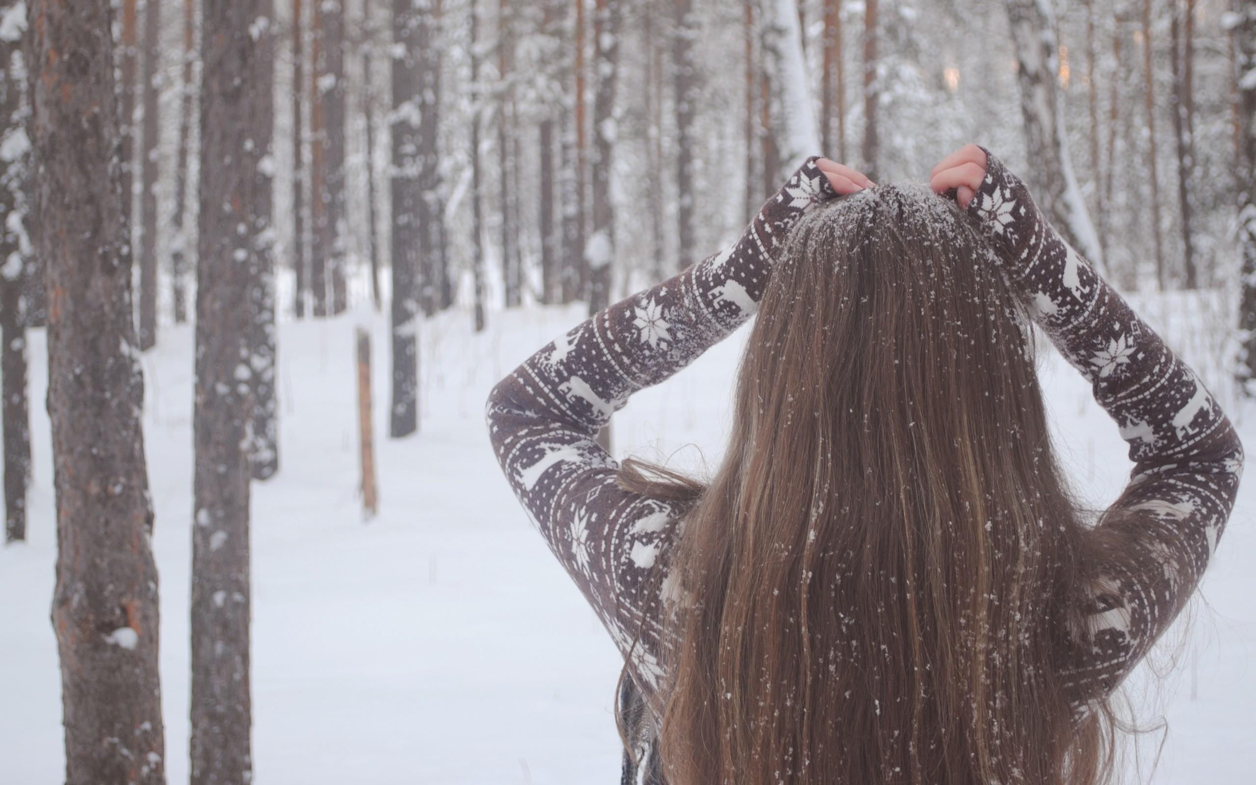 Фото красивых девушек на аву в вк без лица зимой