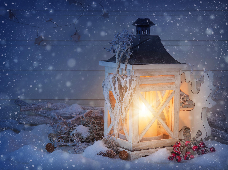 новый год фонарь сердца снег скачать