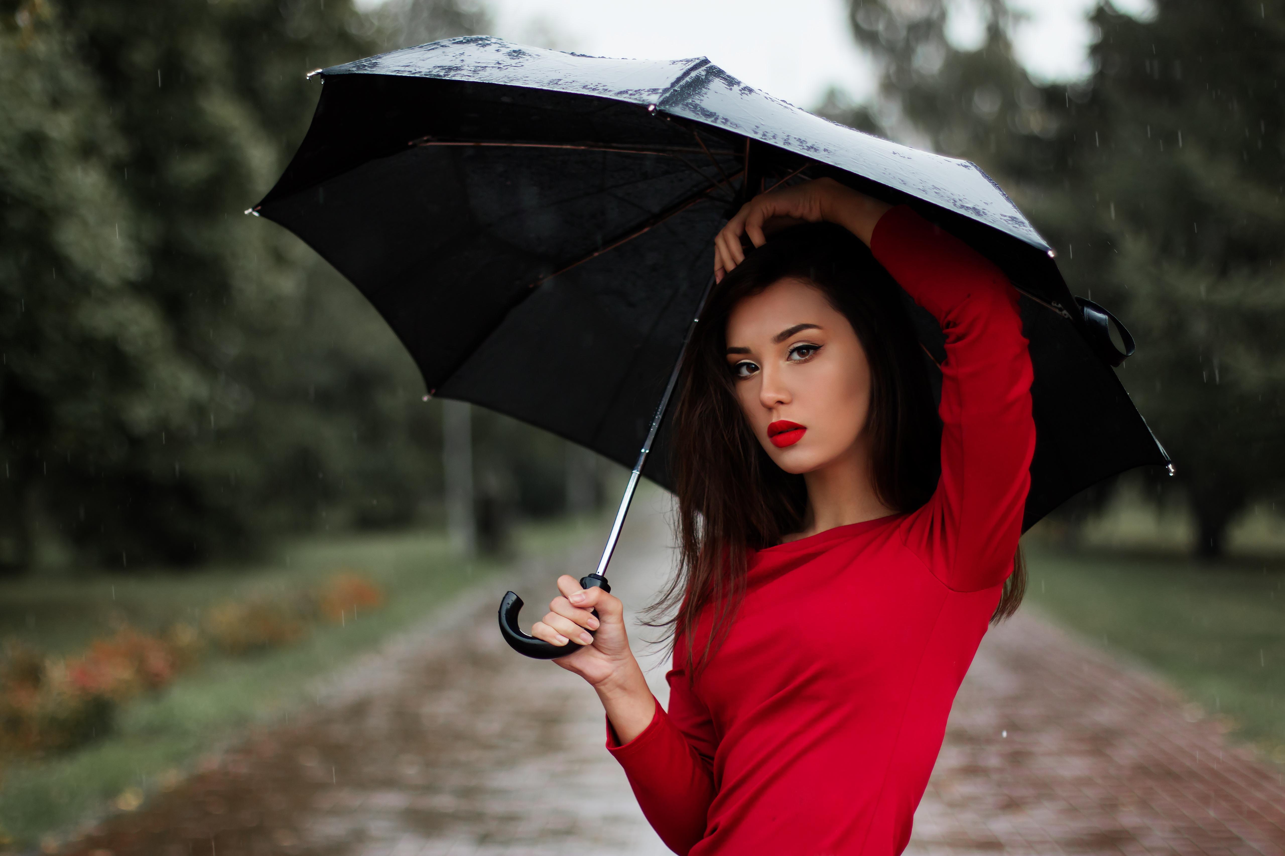 фотографии с красным зонтиком шерсти