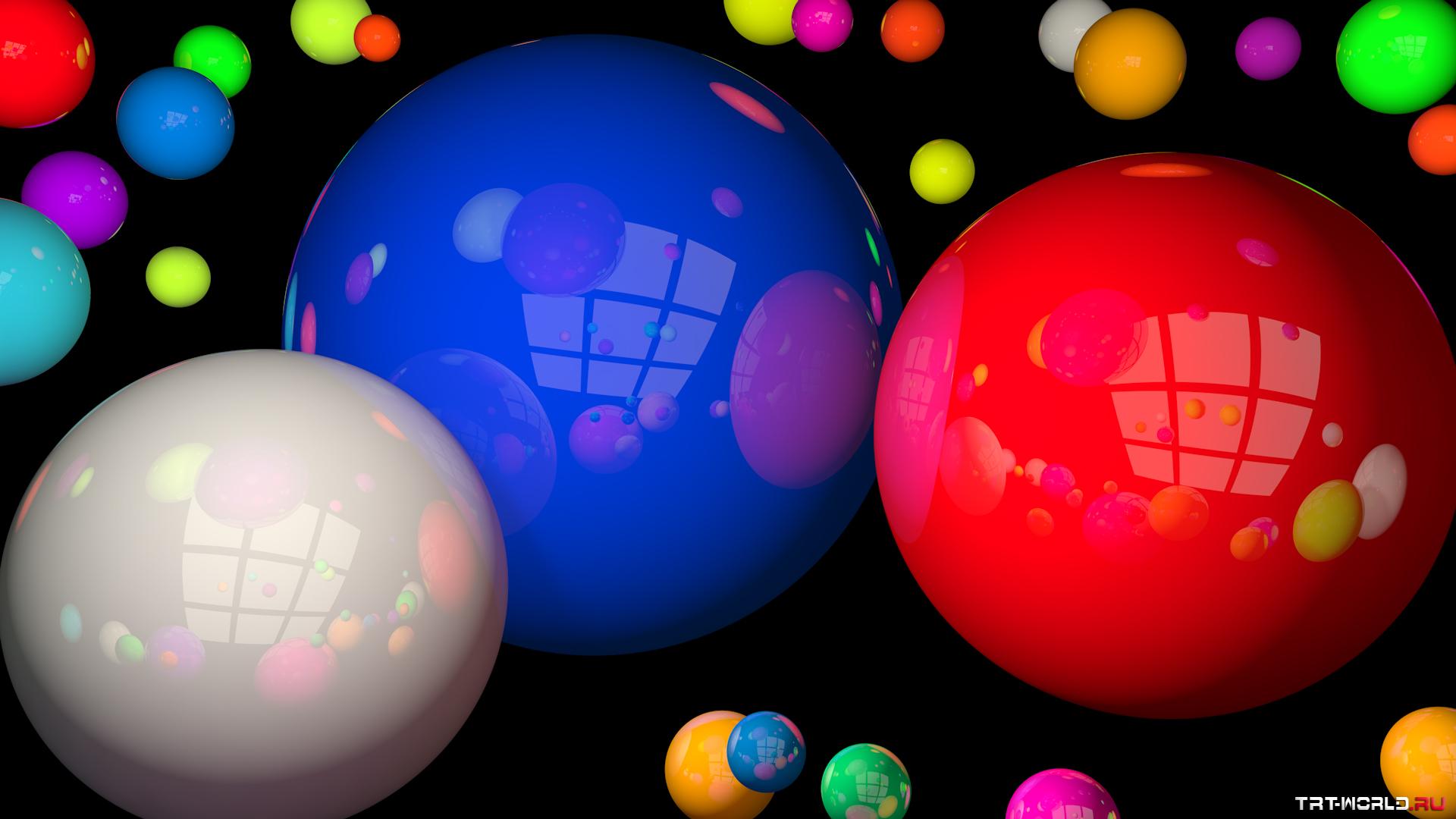 разноцветы шары  № 542413 загрузить