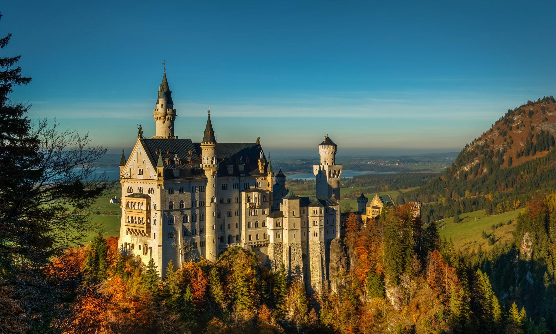 архитектура страны Замок Нойшванштайн Швангау Германия  № 2231488  скачать