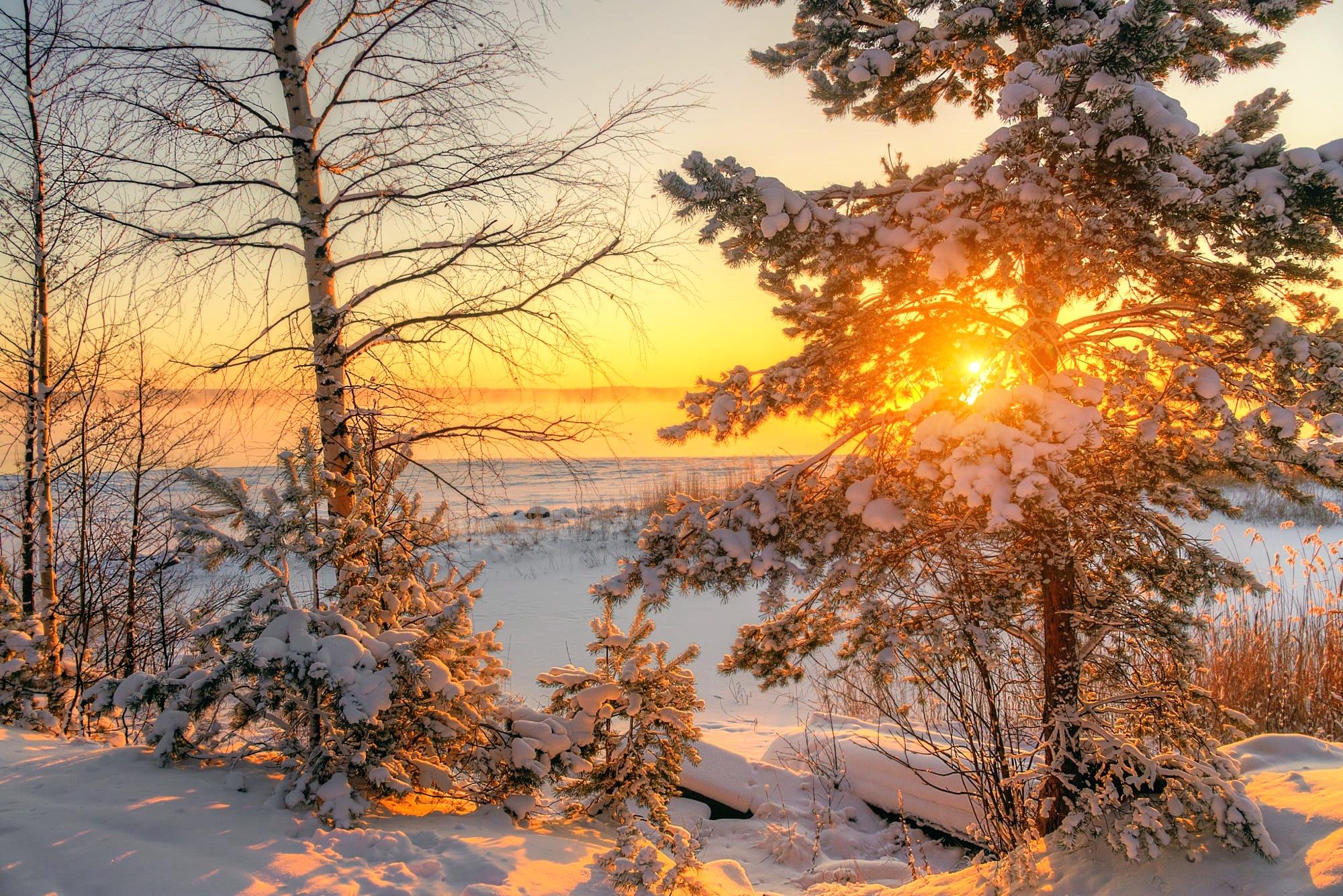 развести картинка ч добрым утром с зимними пейзажами неё проходят трубы