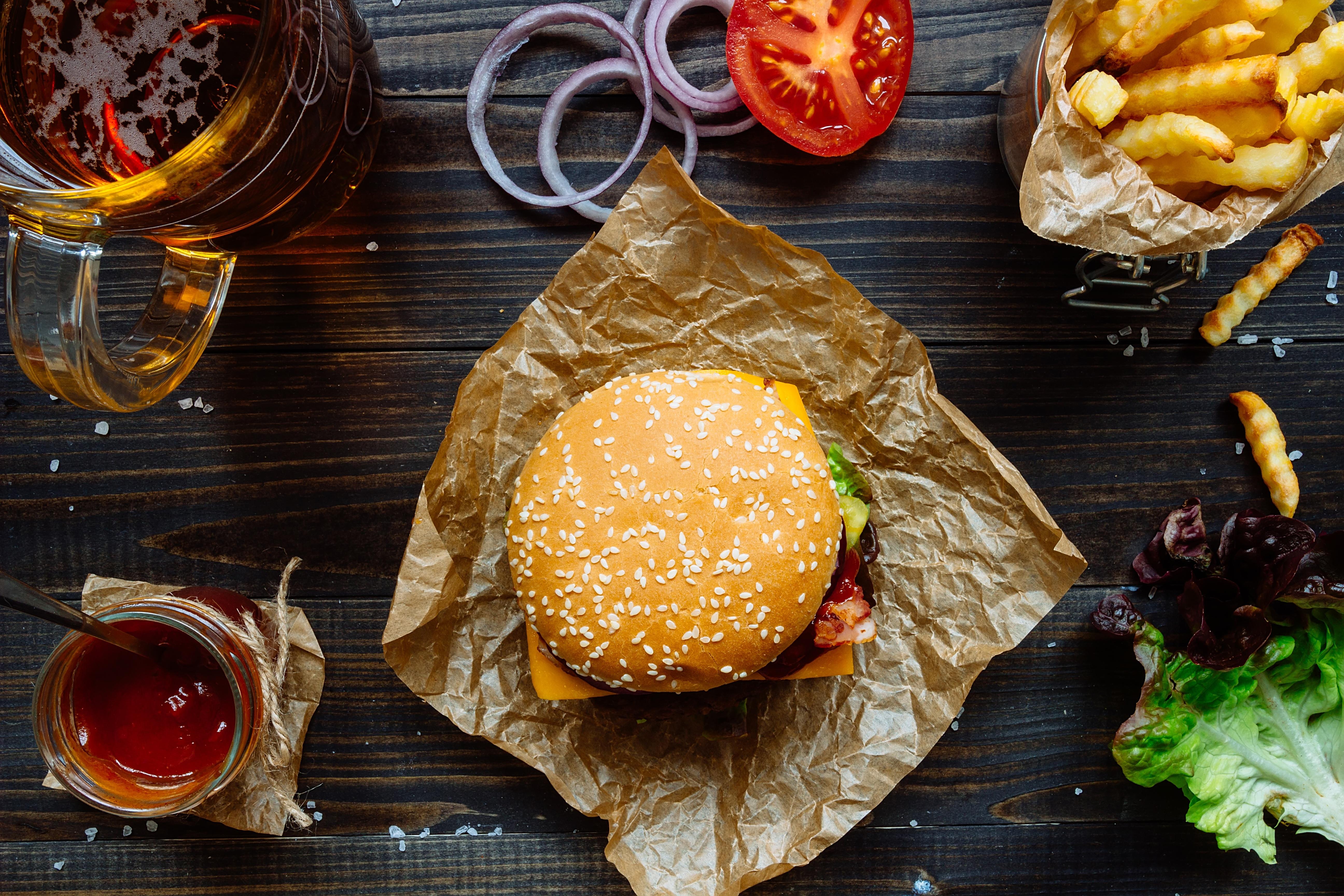 еда гамбургер лук бесплатно