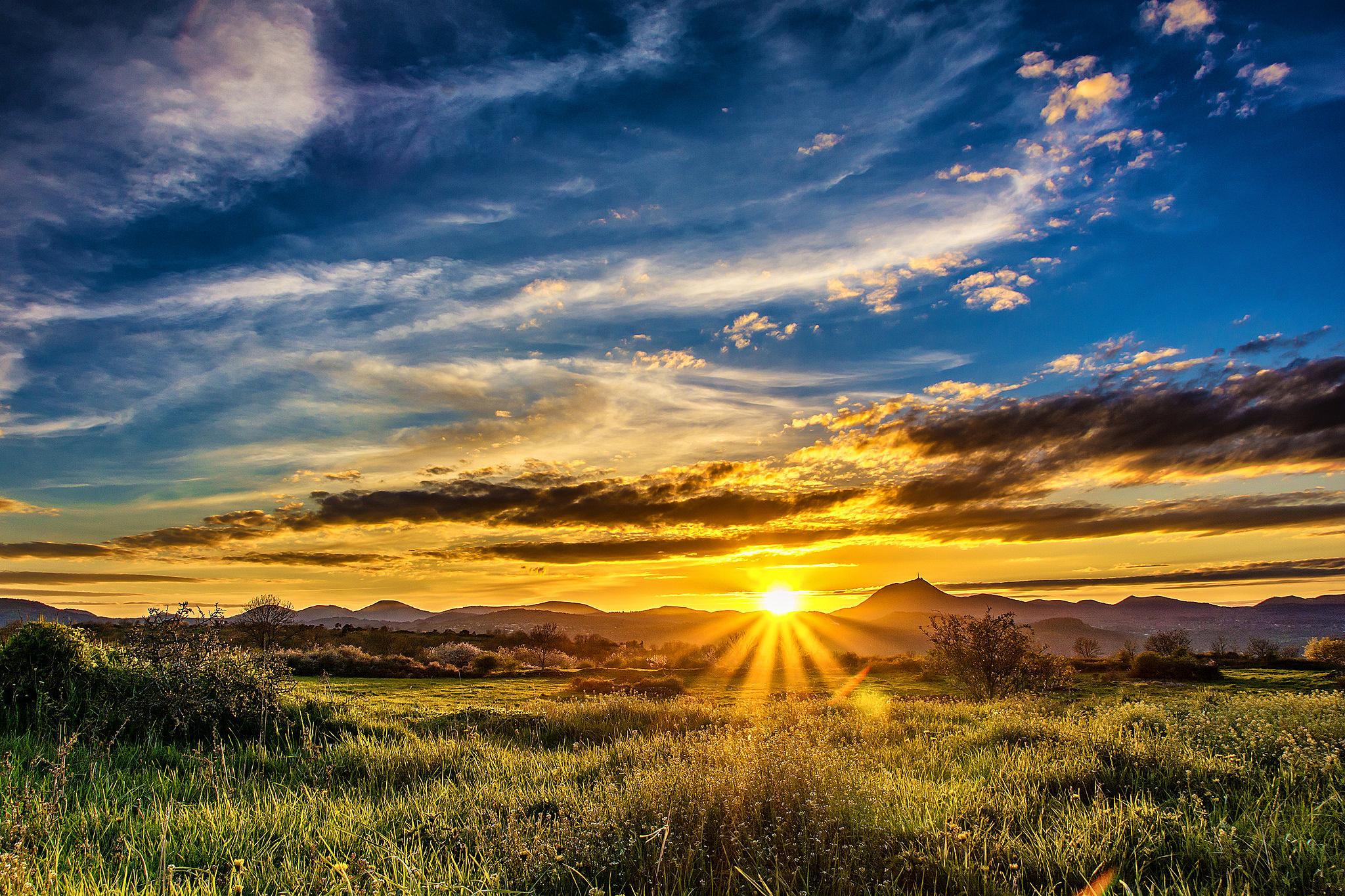 Картинки солнца и пейзажи красивые большие много