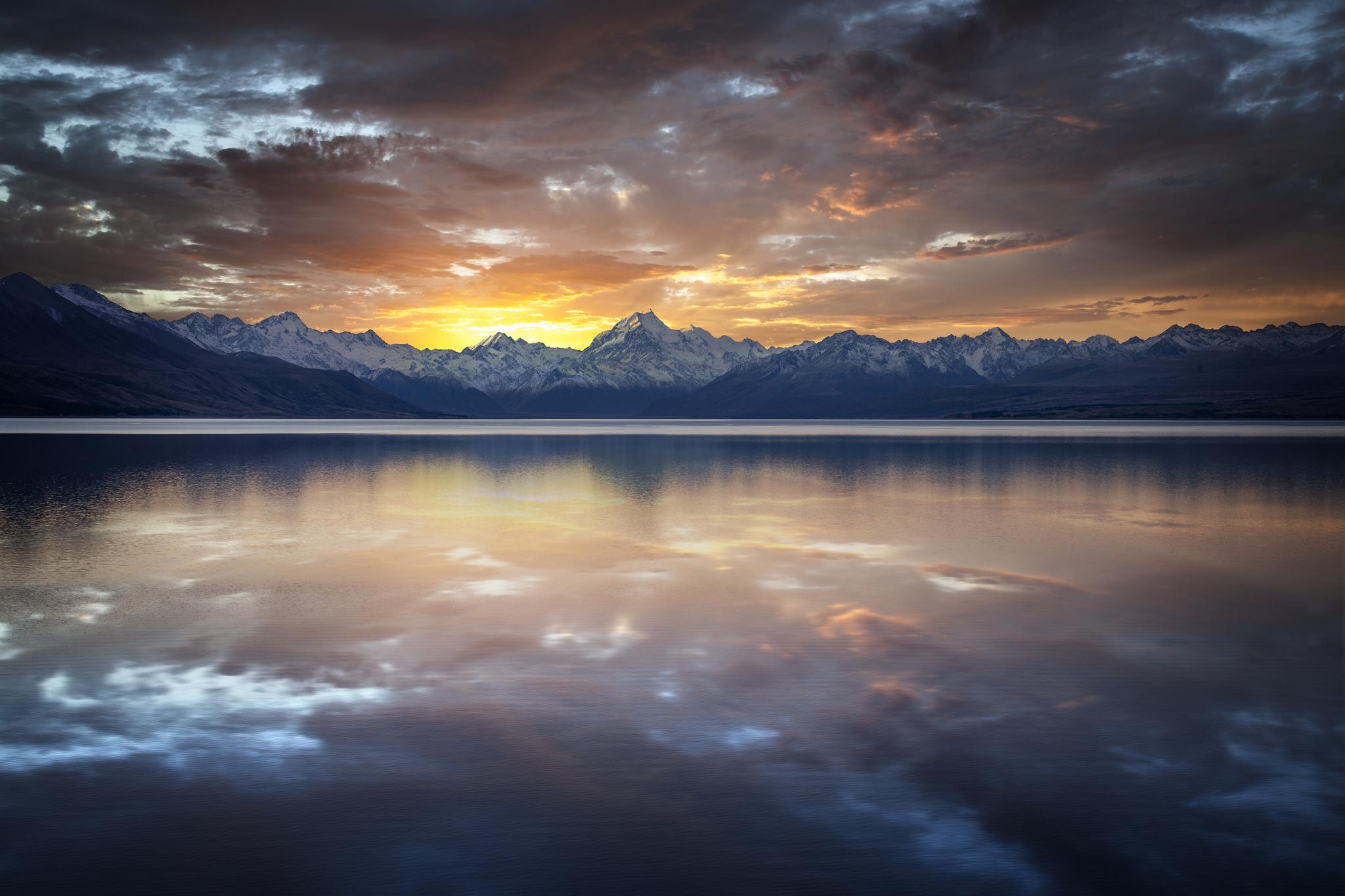 горы закат озеро загрузить