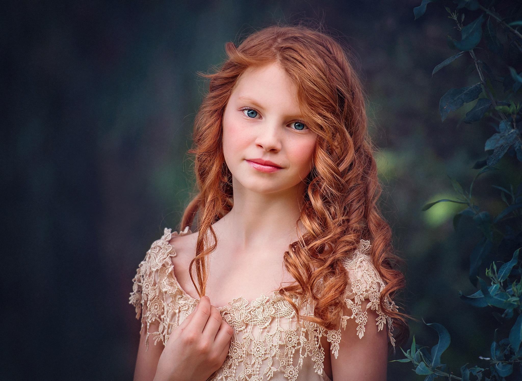 Скачать обои портрет, дети, рыжая, девочка, волосы