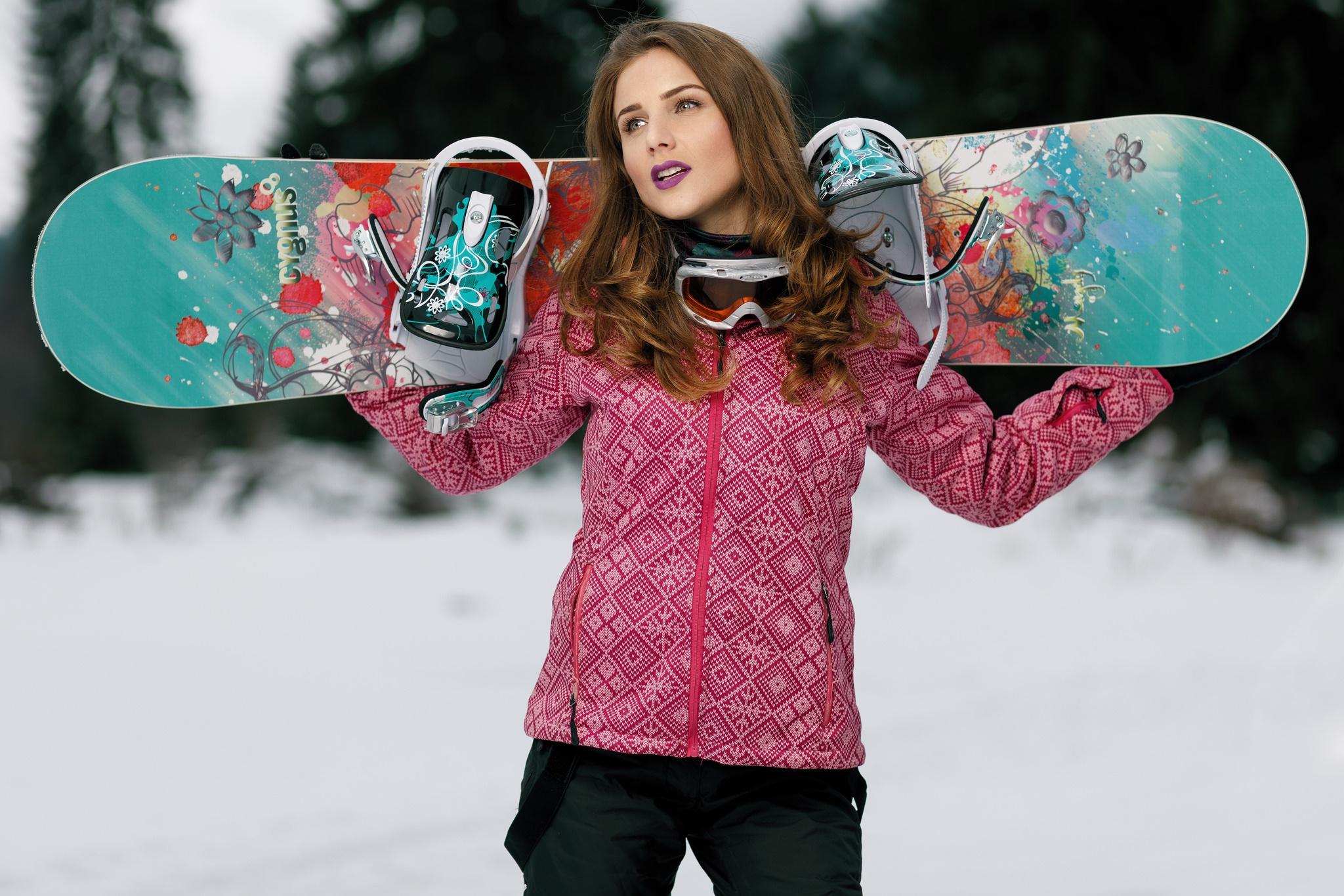 Картинки сноубордиста девушки, картинка