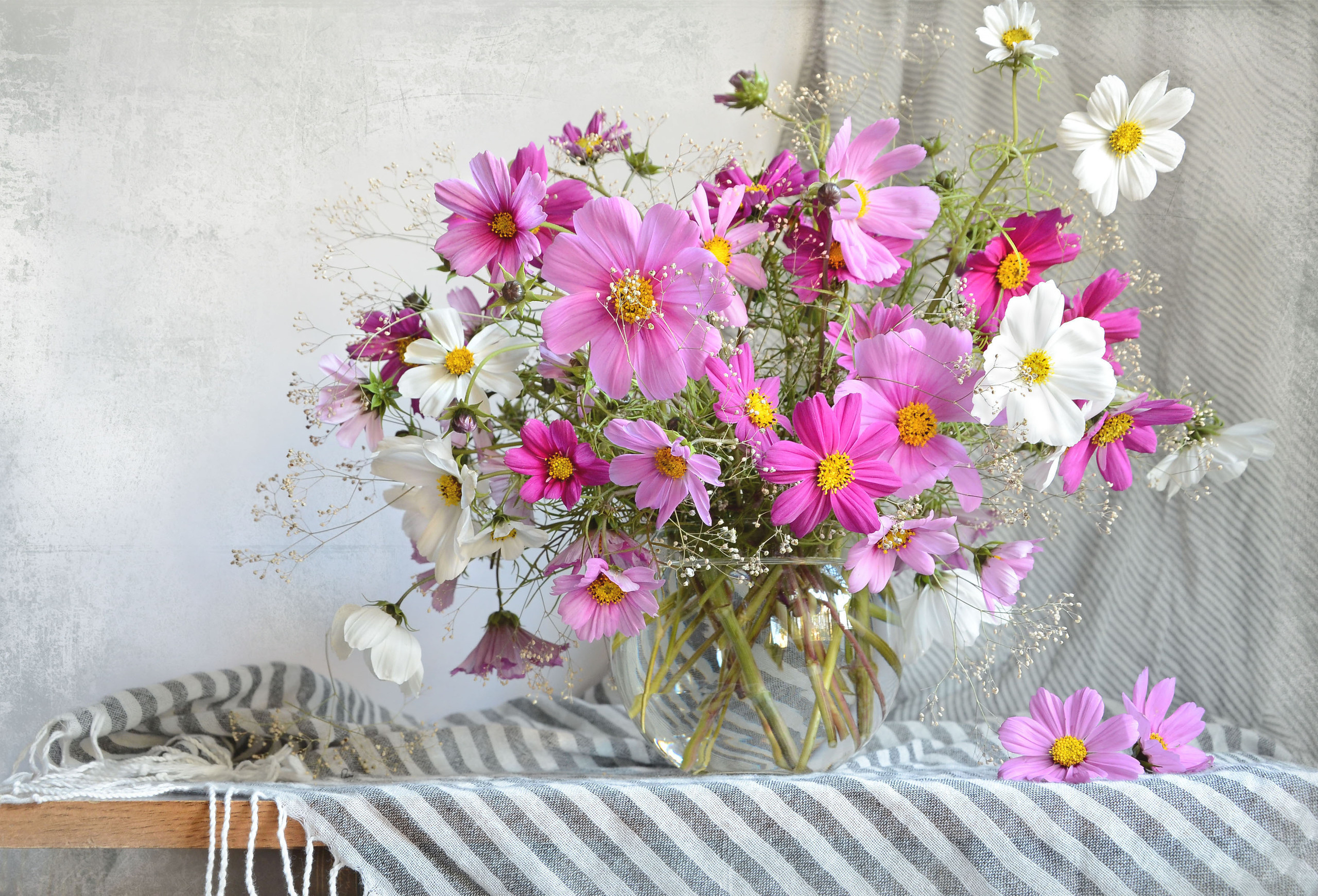 Открытка с цветами лето