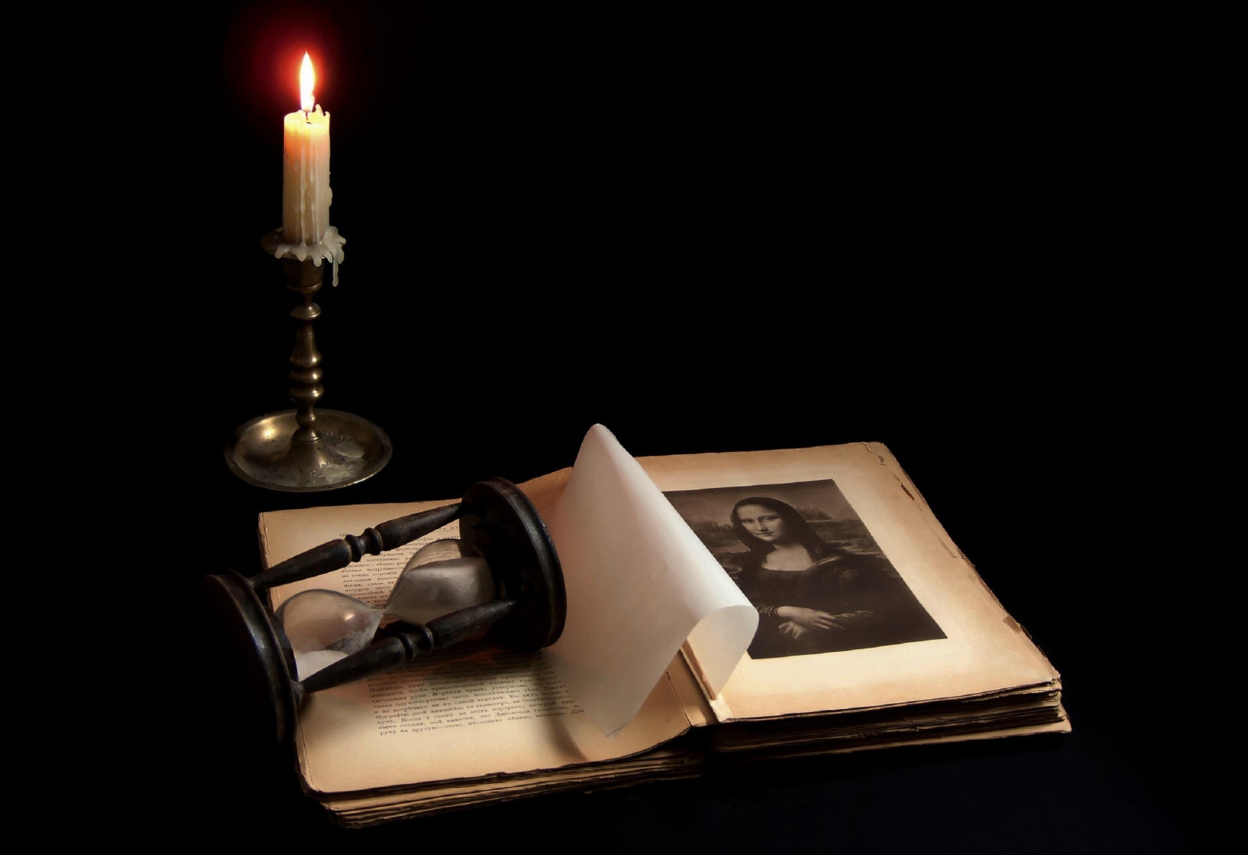 Картинка книга со свечой