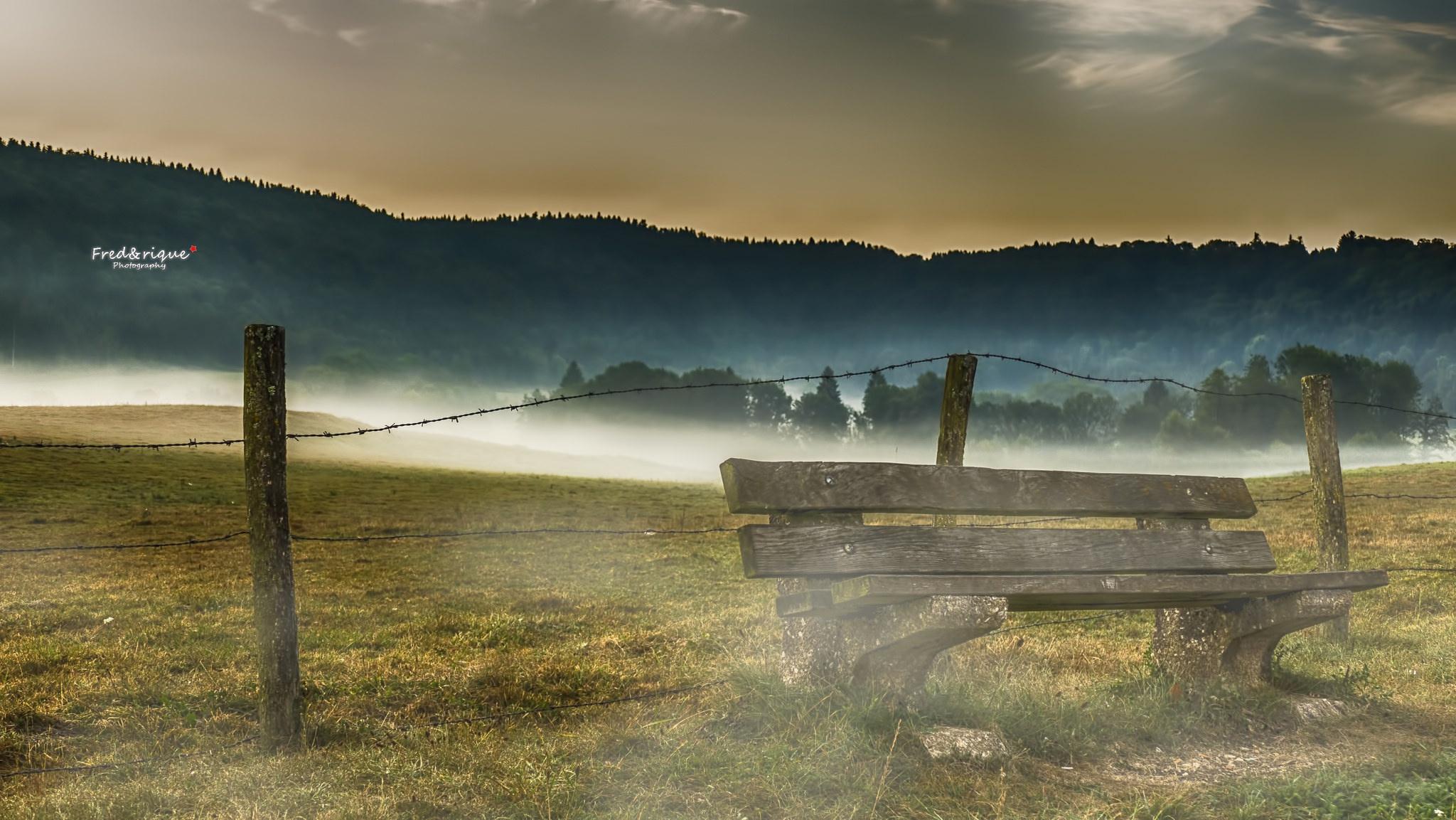 небо поле скамейка скачать