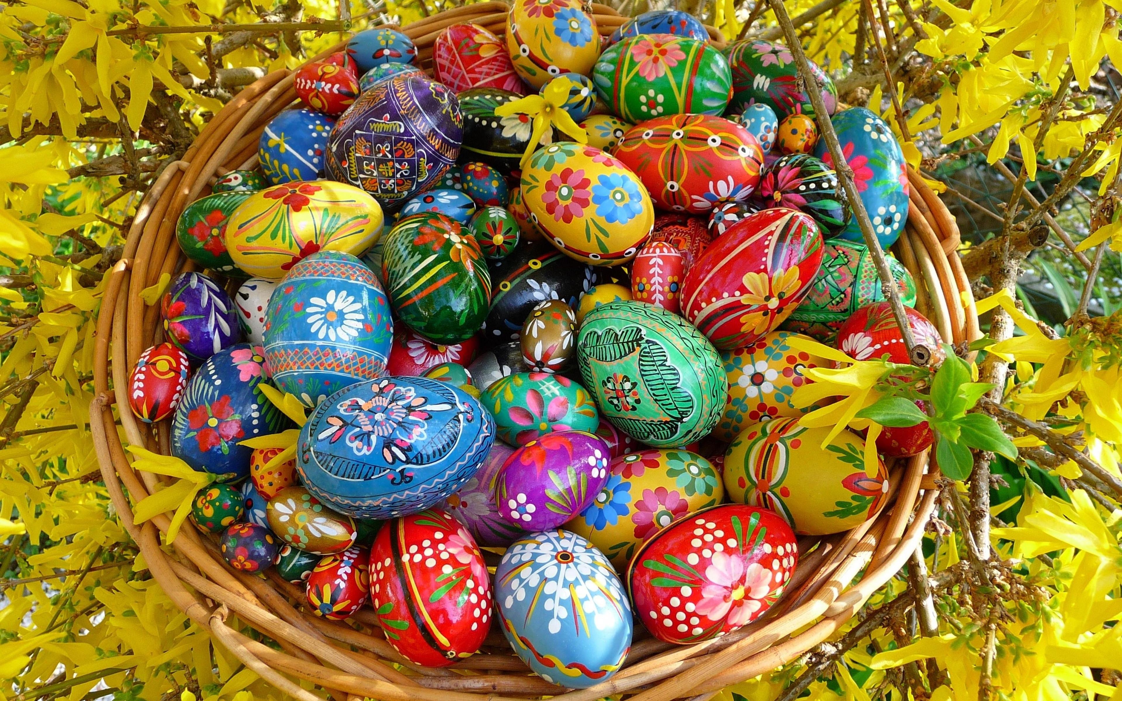 Картинка с пасхальными яйцами, открытки