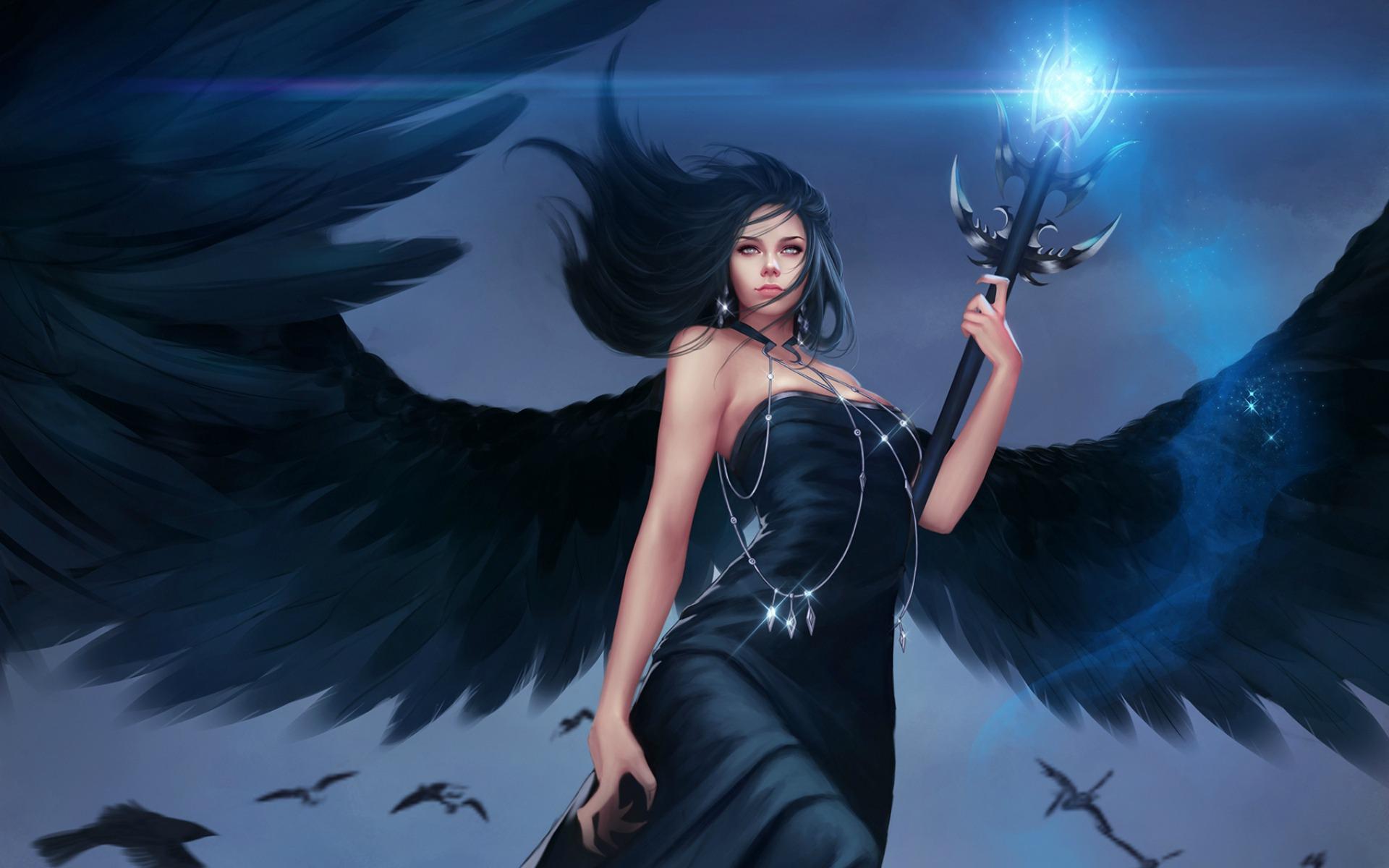 Картинки темный ангел девушка