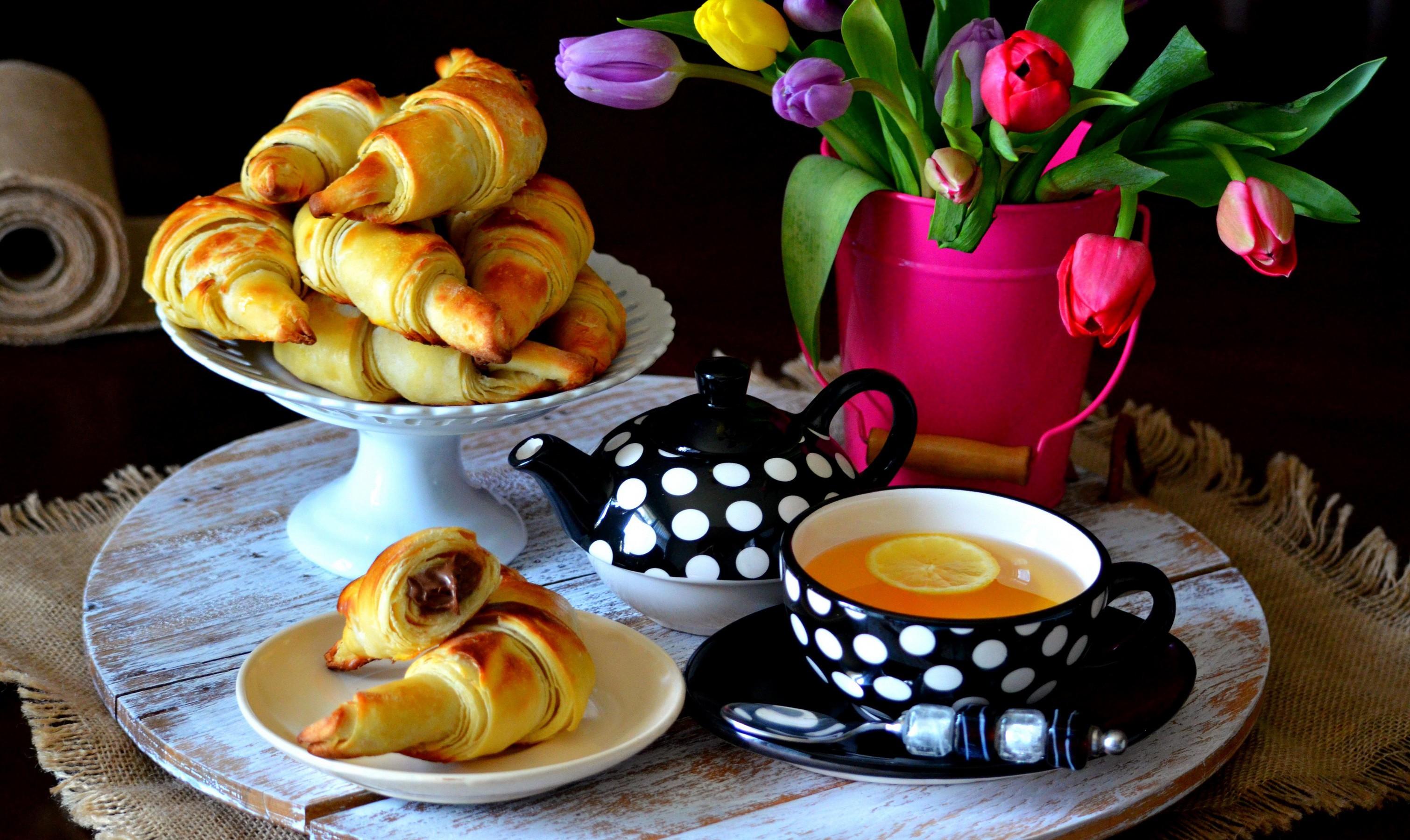 пирожные лимоны чай  № 3678295  скачать
