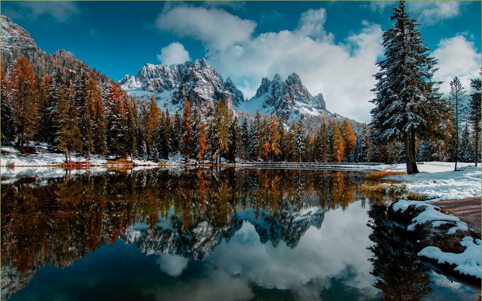 Картинки осень зима красивые пейзажи
