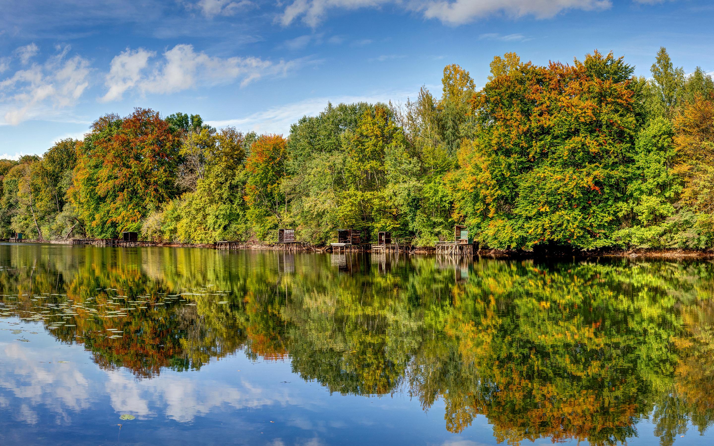 природа река деревья облака небо  № 316536 бесплатно