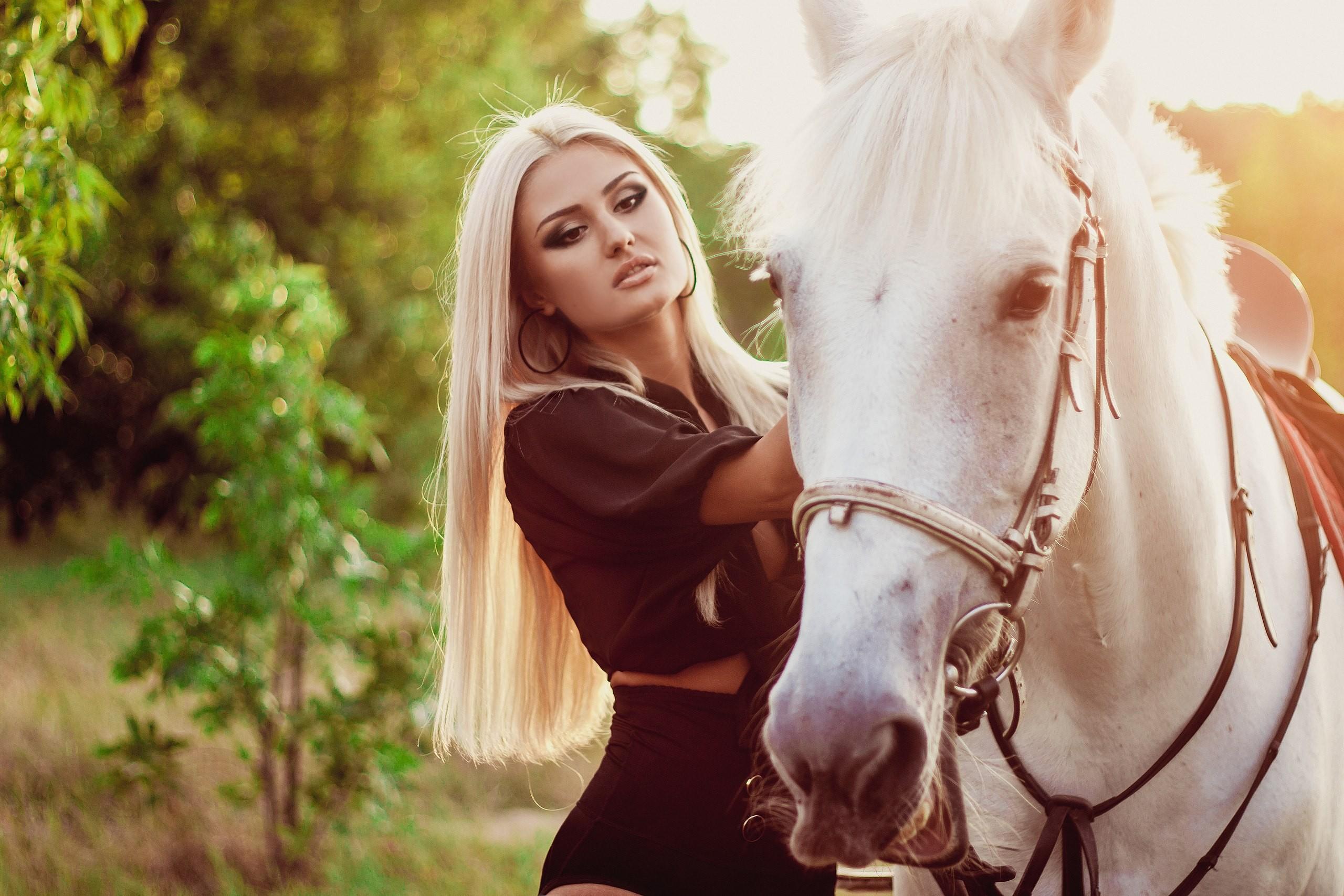 девушка лошади  № 1818992 бесплатно