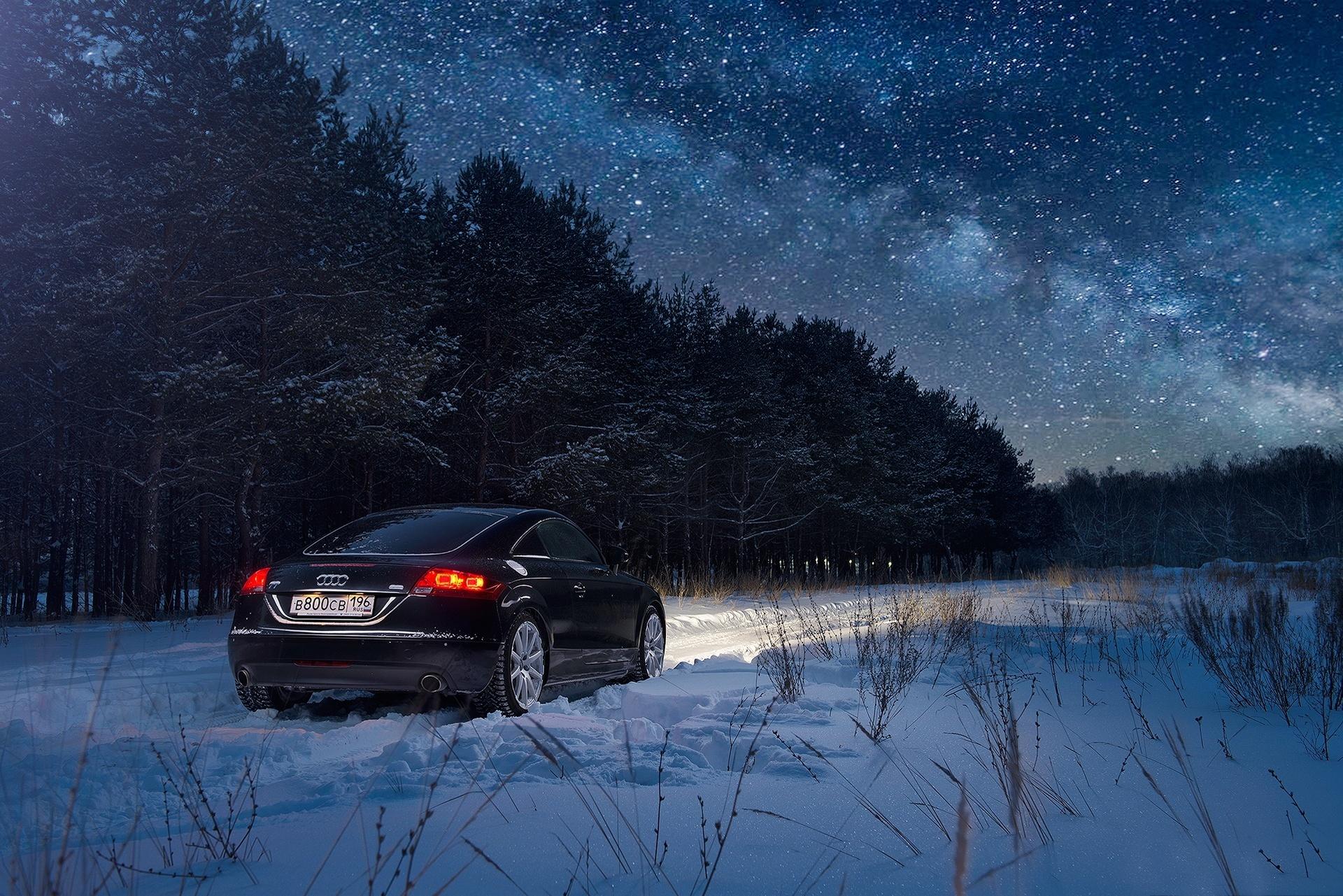 нужно картинки ауди ночью зимой простой это оформить